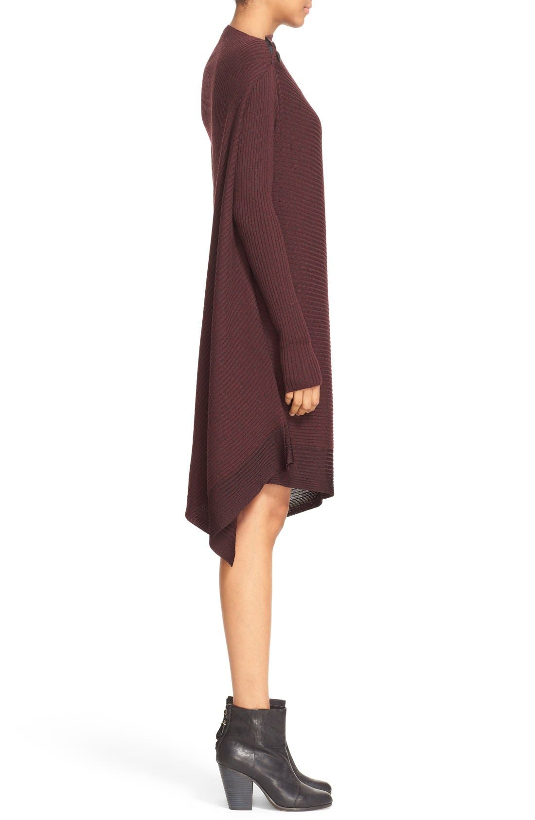 Knit Merino Wool Swing Dress,                             Alternate thumbnail 5, color,                             930