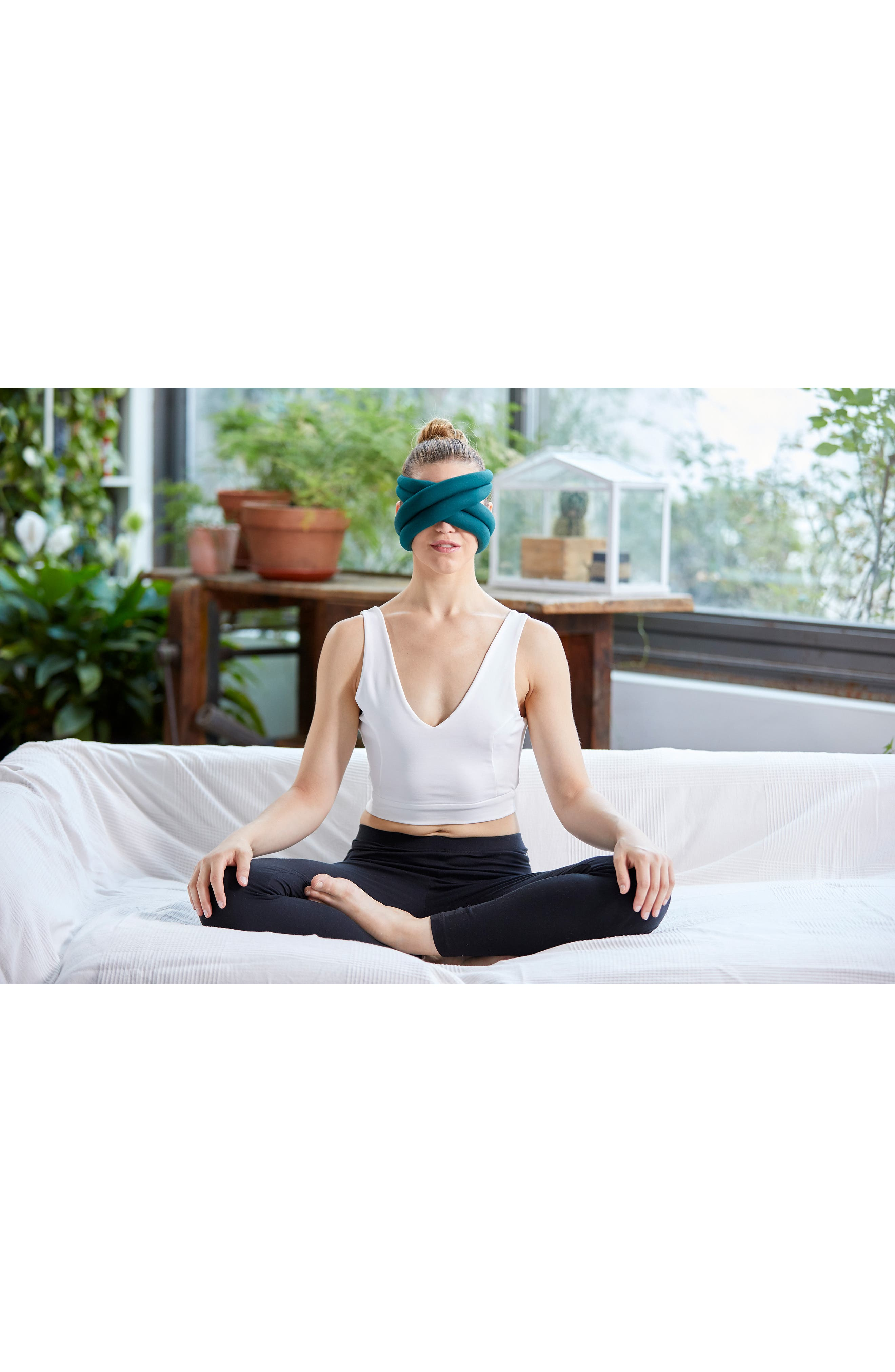 OSTRICHPILLOW<sup>®</sup> Loop Eye Mask,                             Alternate thumbnail 3, color,                             BLUE REEF