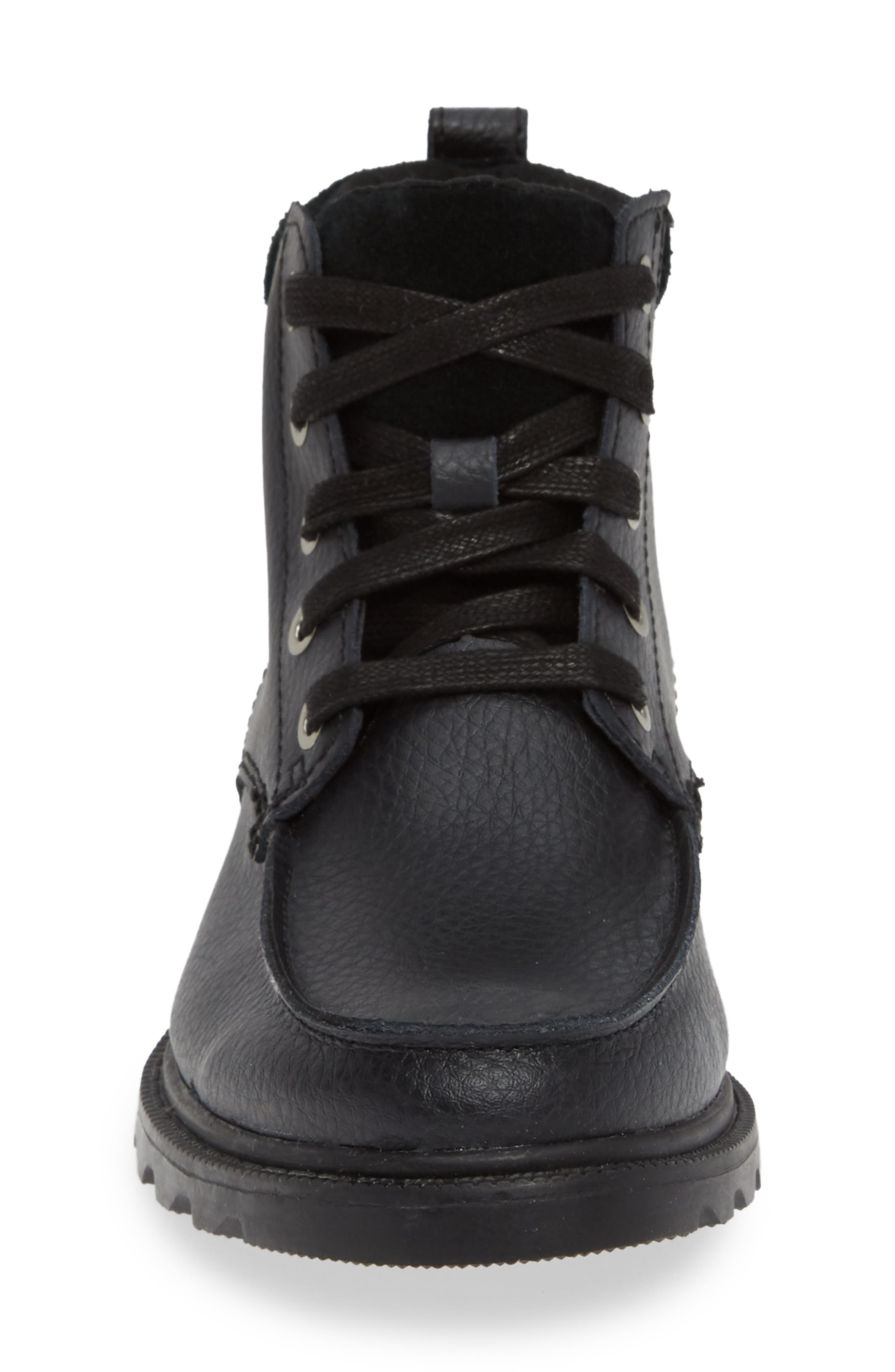 Madson Waterproof Moc Toe Boot,                             Alternate thumbnail 4, color,                             BLACK