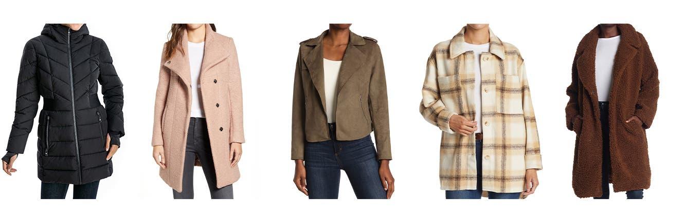Women's coats and jackets.