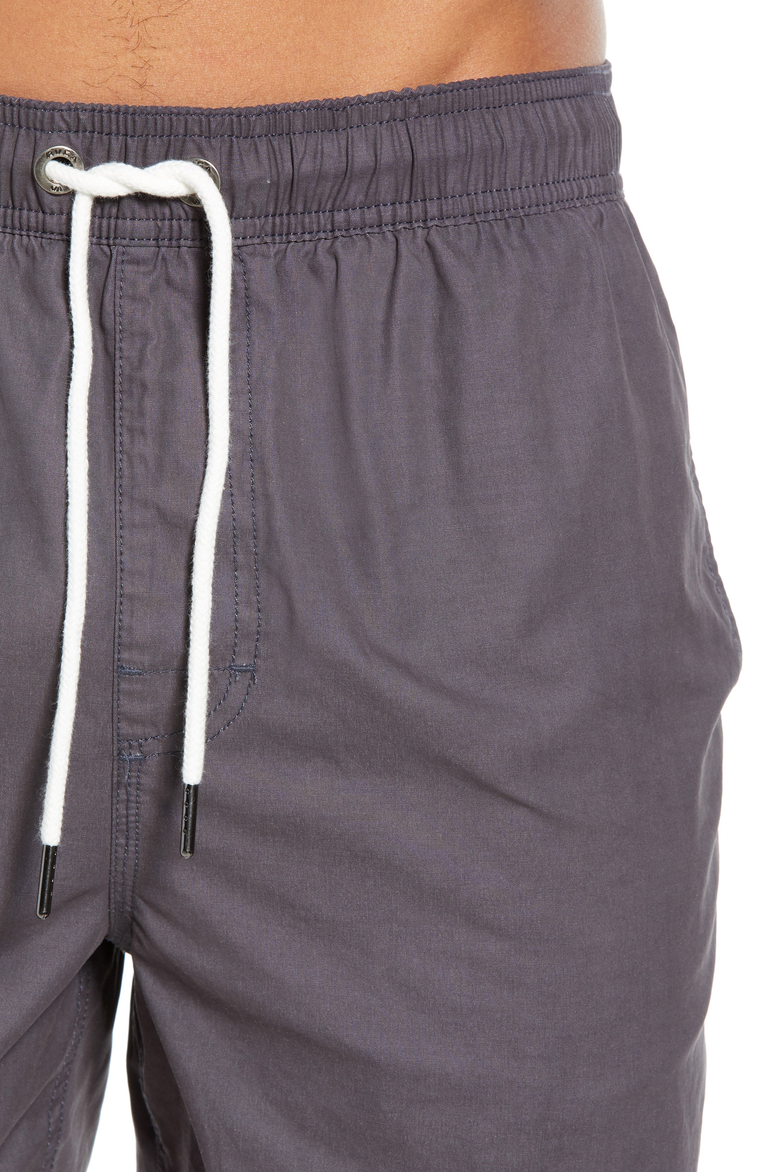 Horton Swim Trunks,                             Alternate thumbnail 4, color,                             OIL GREY