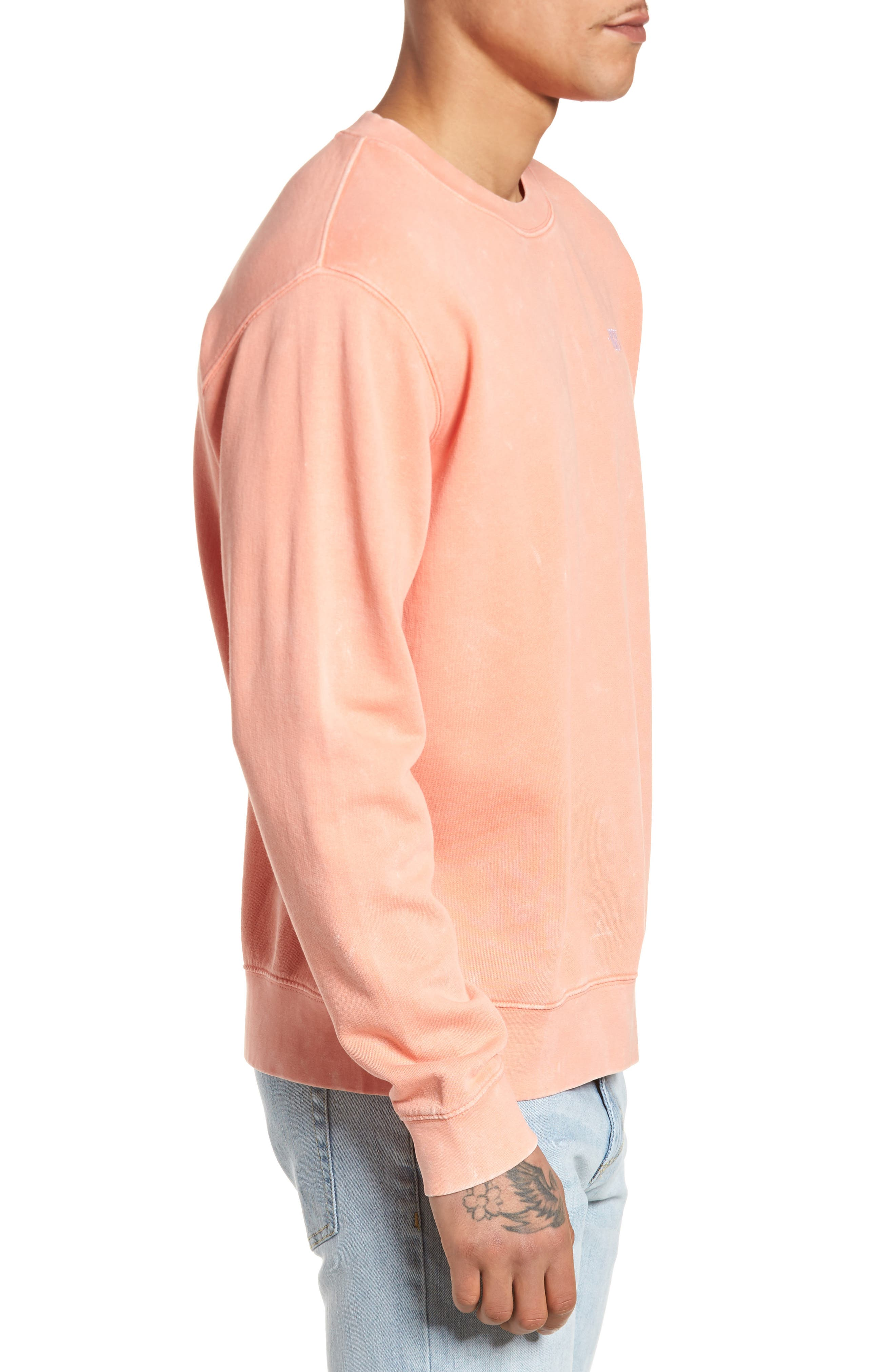 Faded Pigment-Dyed Sweatshirt,                             Alternate thumbnail 3, color,