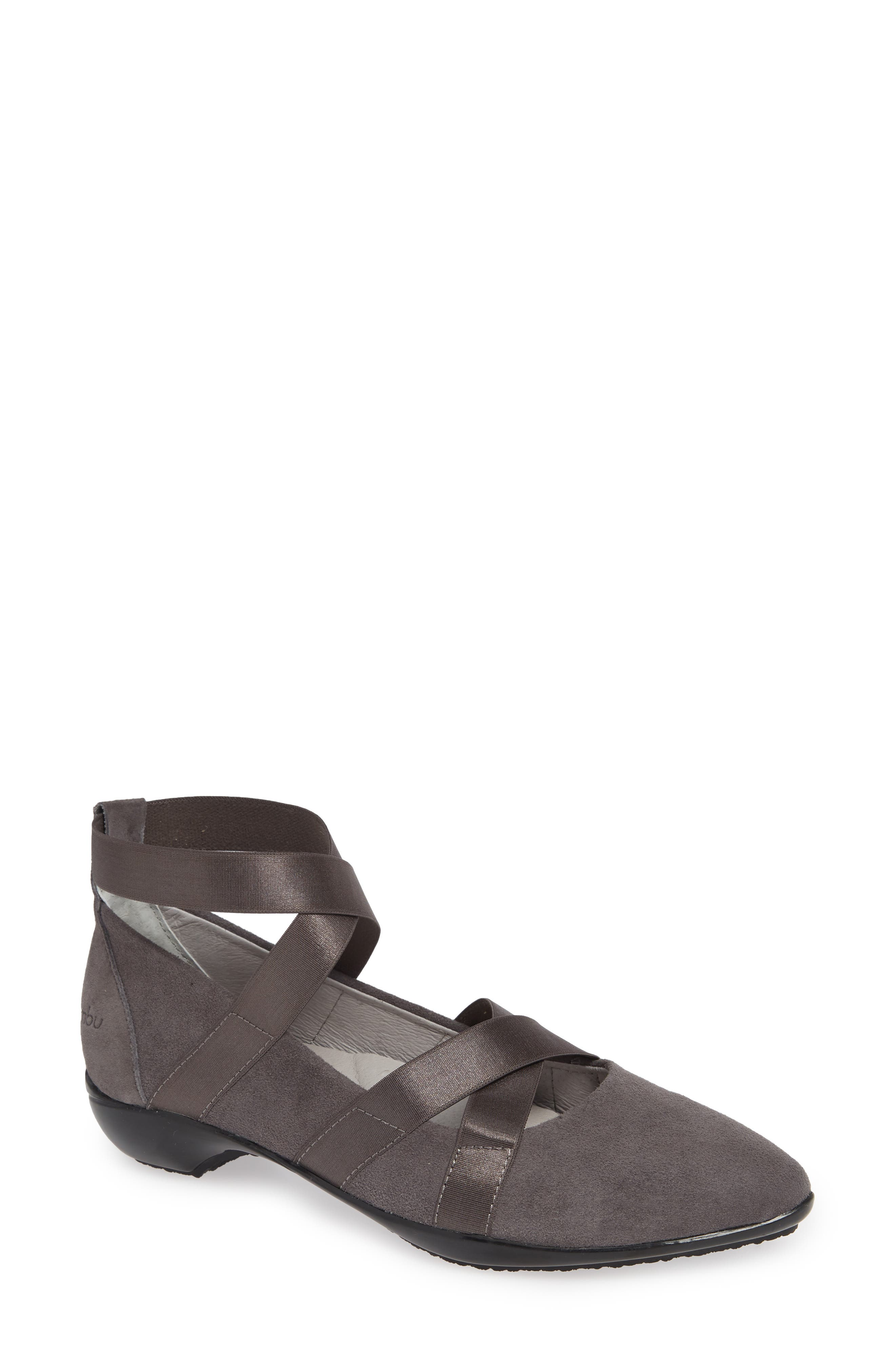 Rumson Flat,                             Main thumbnail 1, color,                             CHARCOAL SUEDE