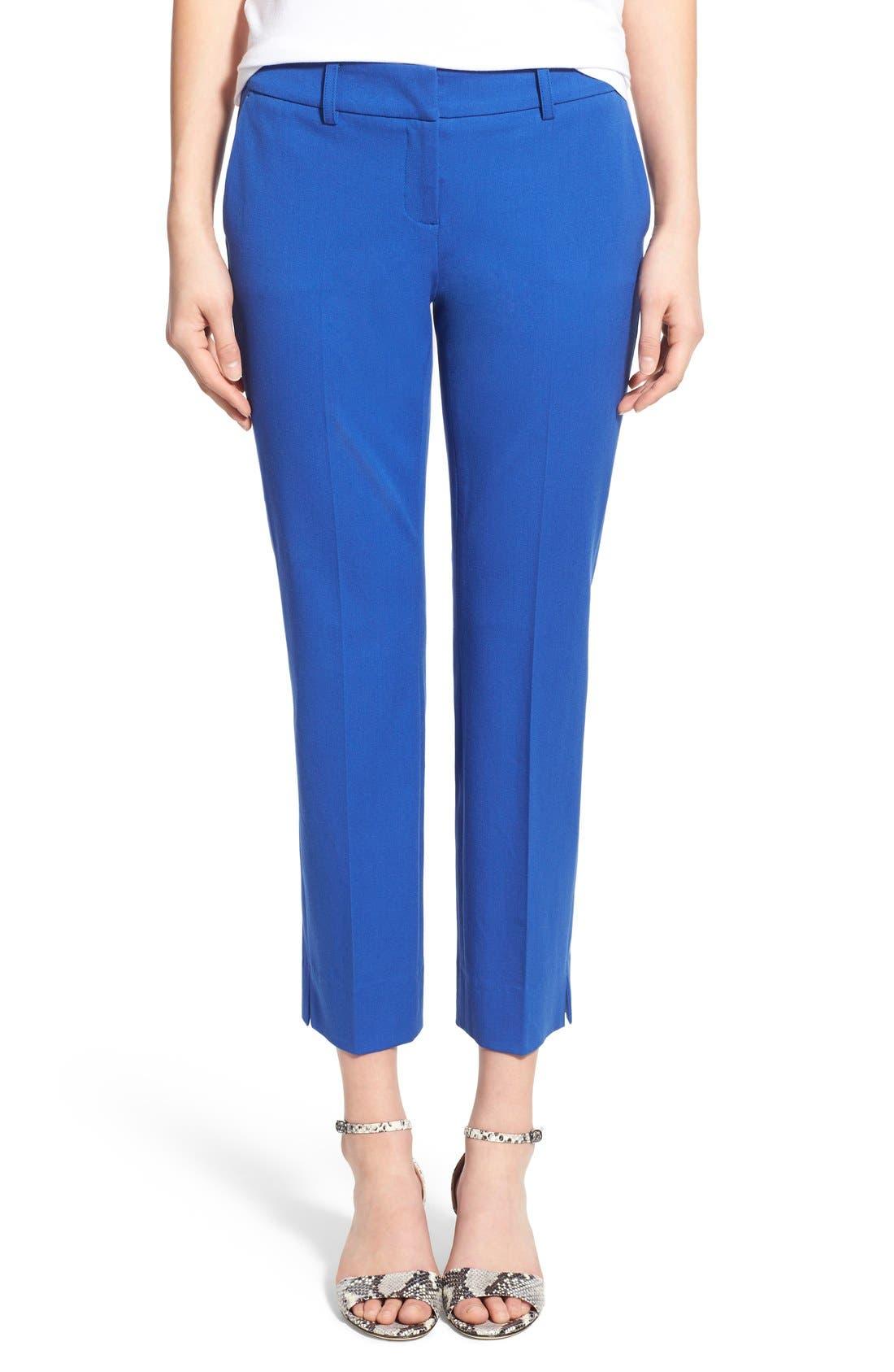 Crop Stretch Cotton Pants,                             Main thumbnail 12, color,