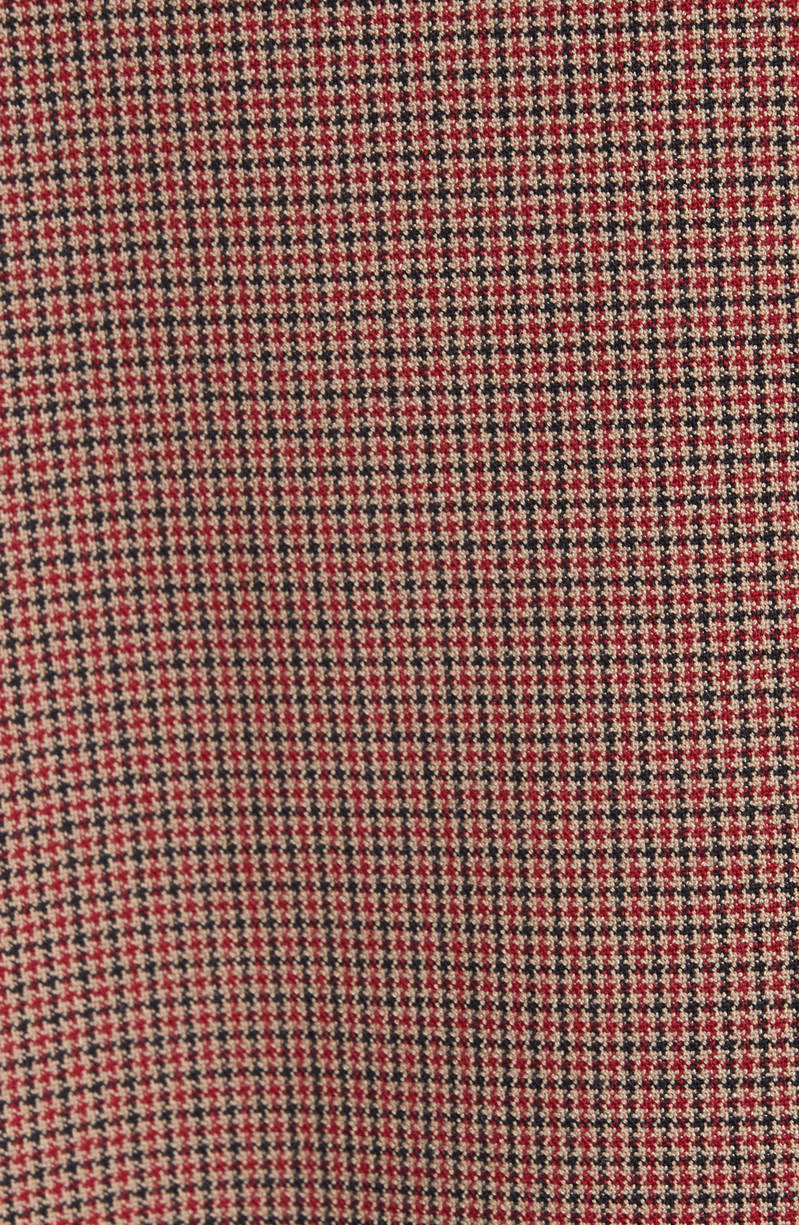Joliviena Check Suit Jacket,                             Alternate thumbnail 6, color,                             DARK RED CHECK