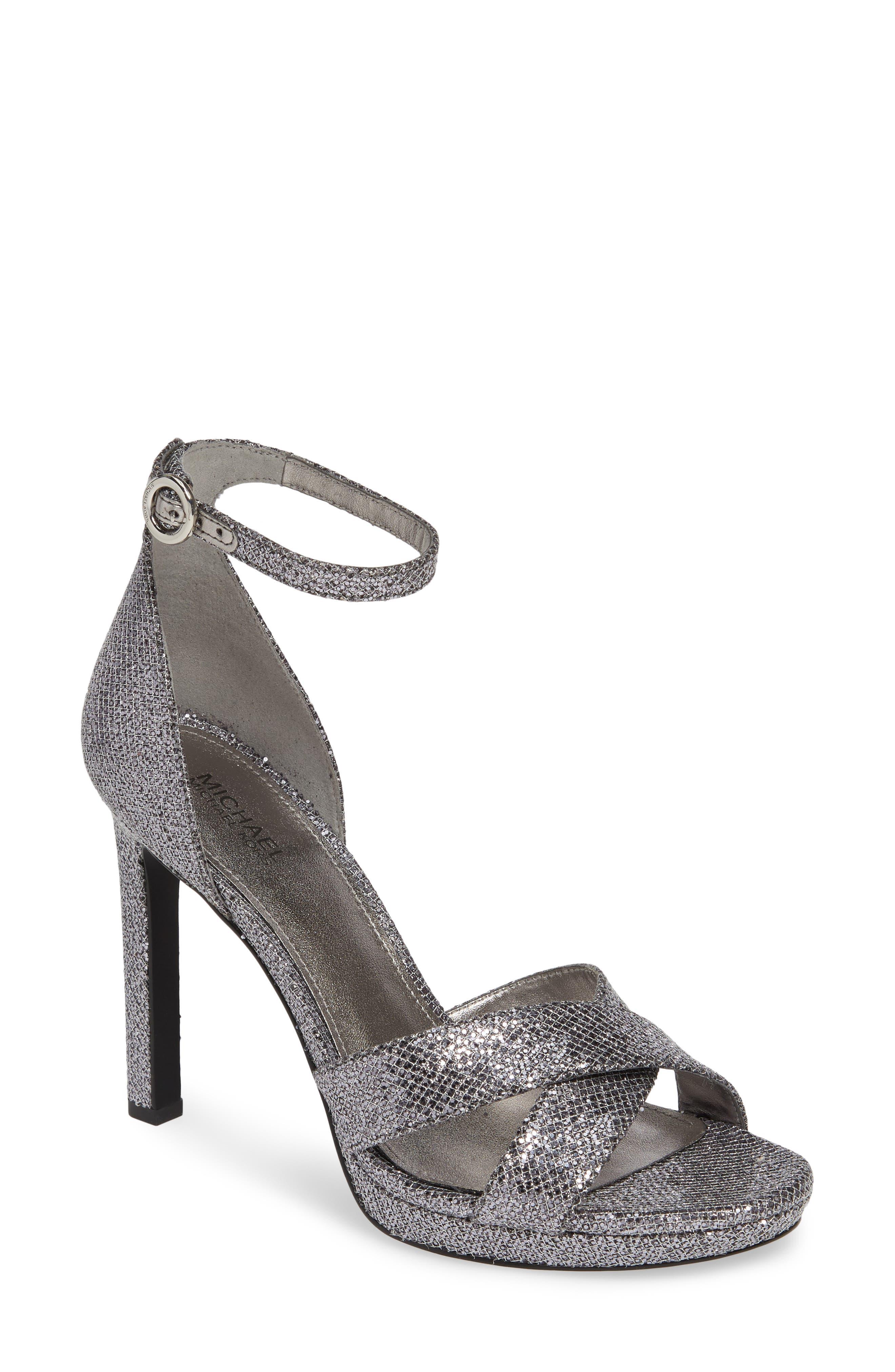 Michael Michael Kors Alexia Halo Strap Sandal- Metallic