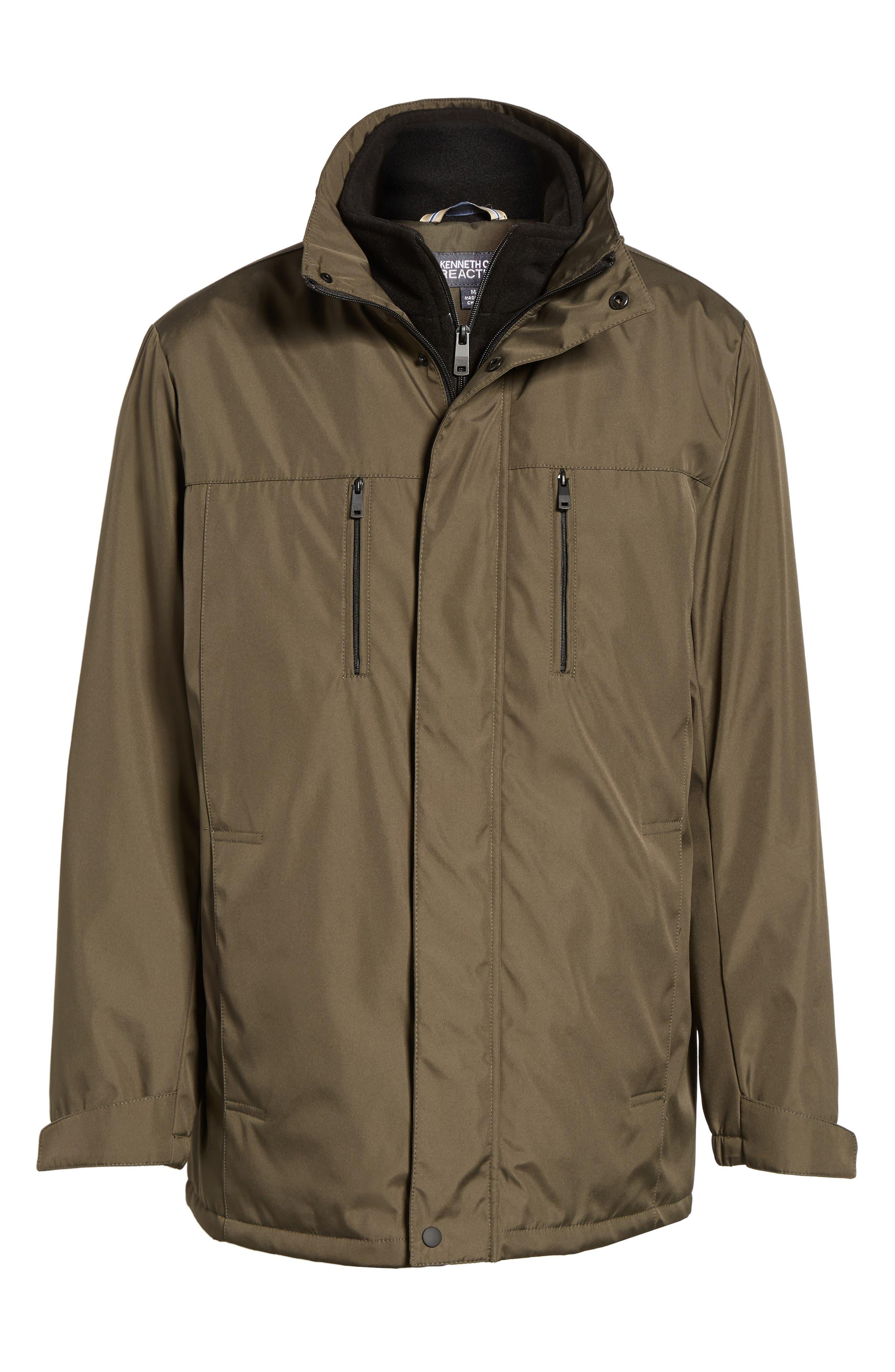 Hooded Jacket with Inset Fleece Bib,                             Alternate thumbnail 19, color,