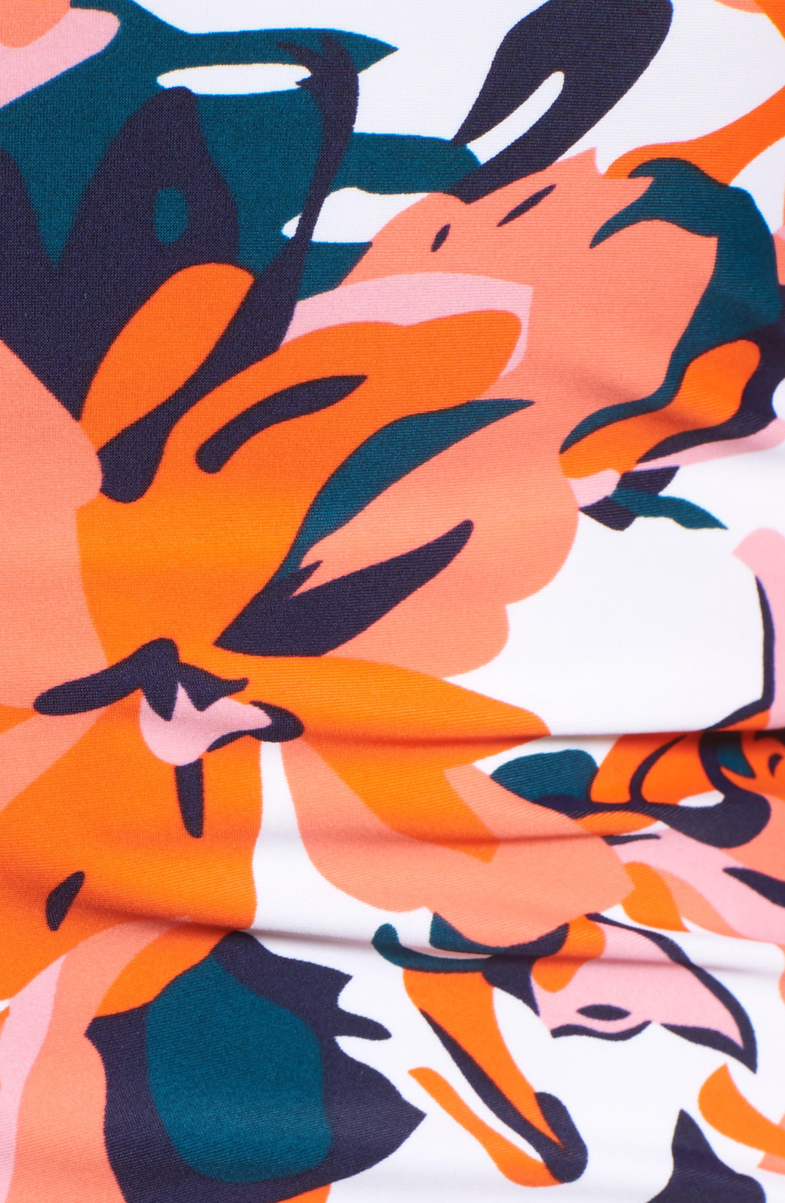 'Josie' Maternity Tankini Swimsuit,                             Alternate thumbnail 5, color,                             HIBISCUS
