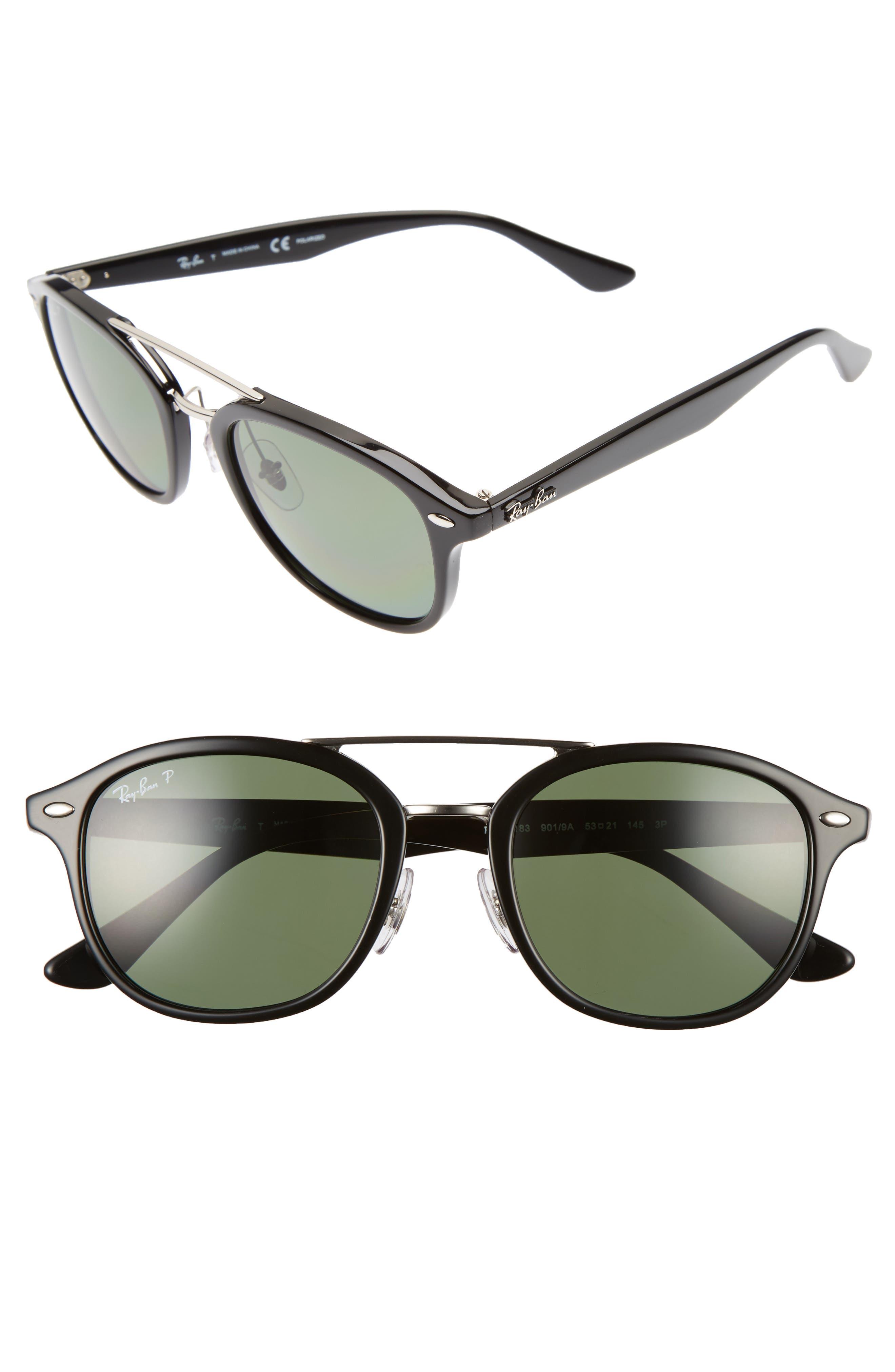 53mm Polarized Sunglasses,                             Main thumbnail 1, color,                             001