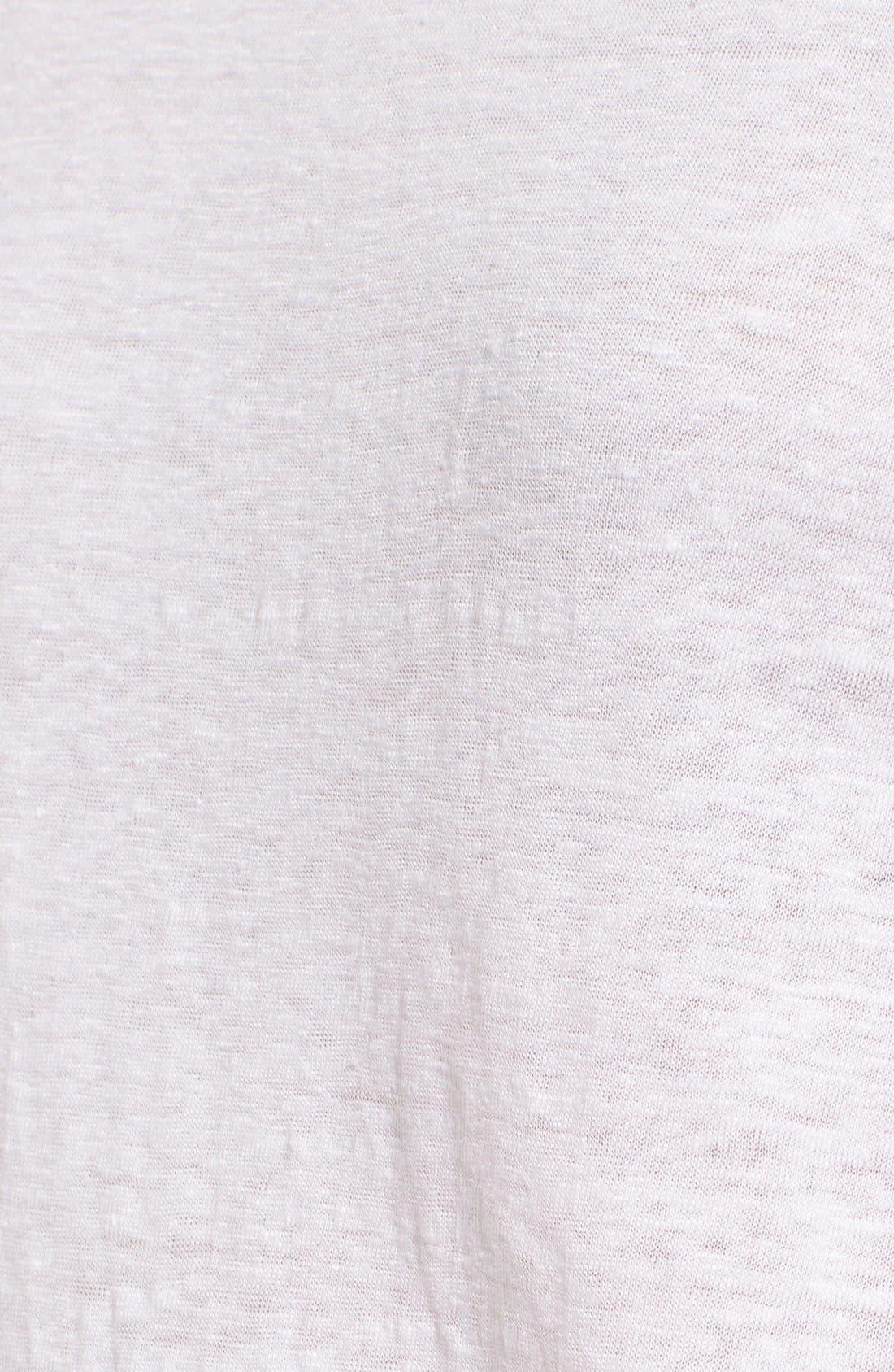 Bateau Neck Organic Linen Tunic,                             Alternate thumbnail 36, color,