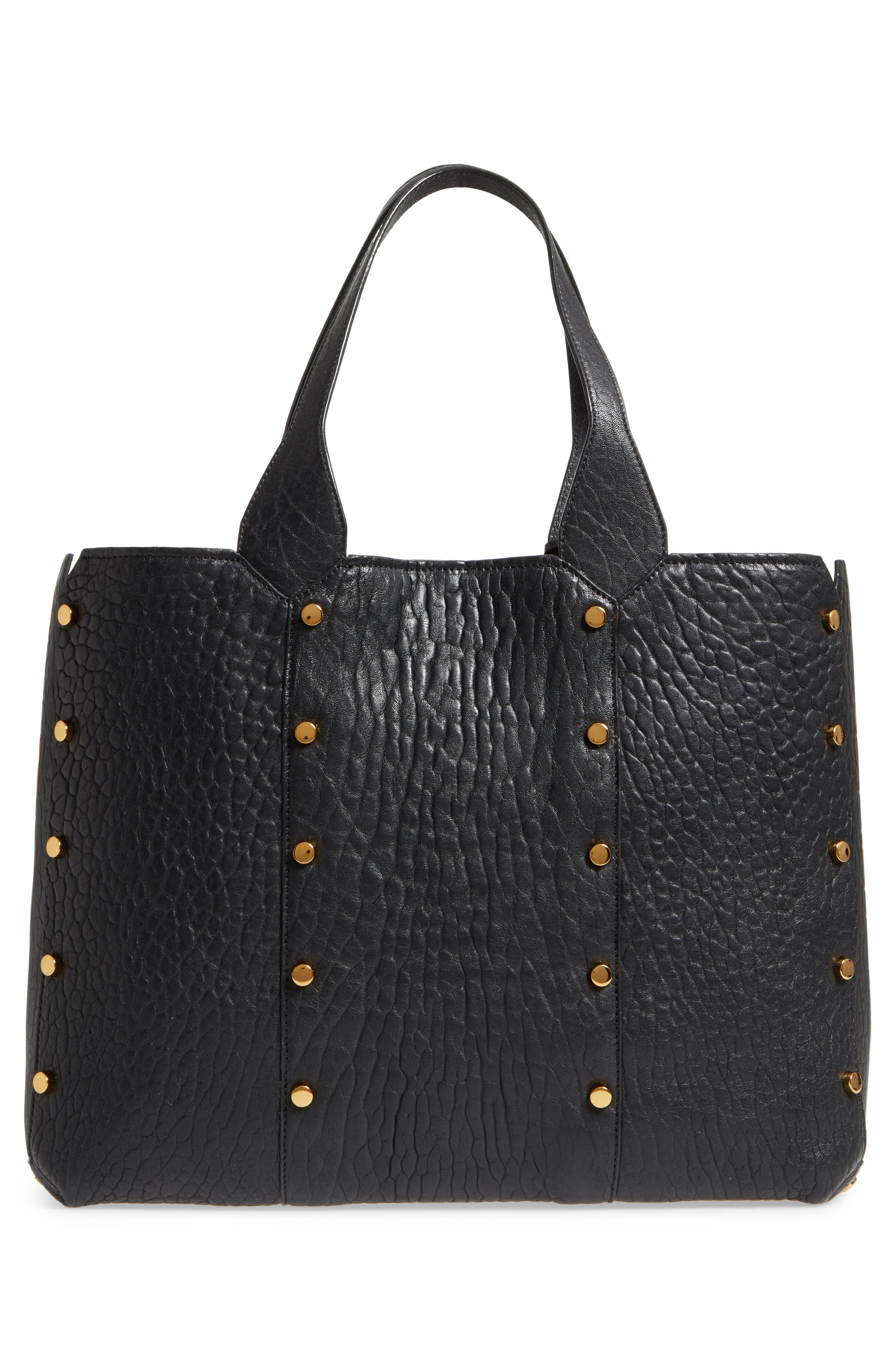 Lockett Leather Shopper,                             Alternate thumbnail 3, color,                             002