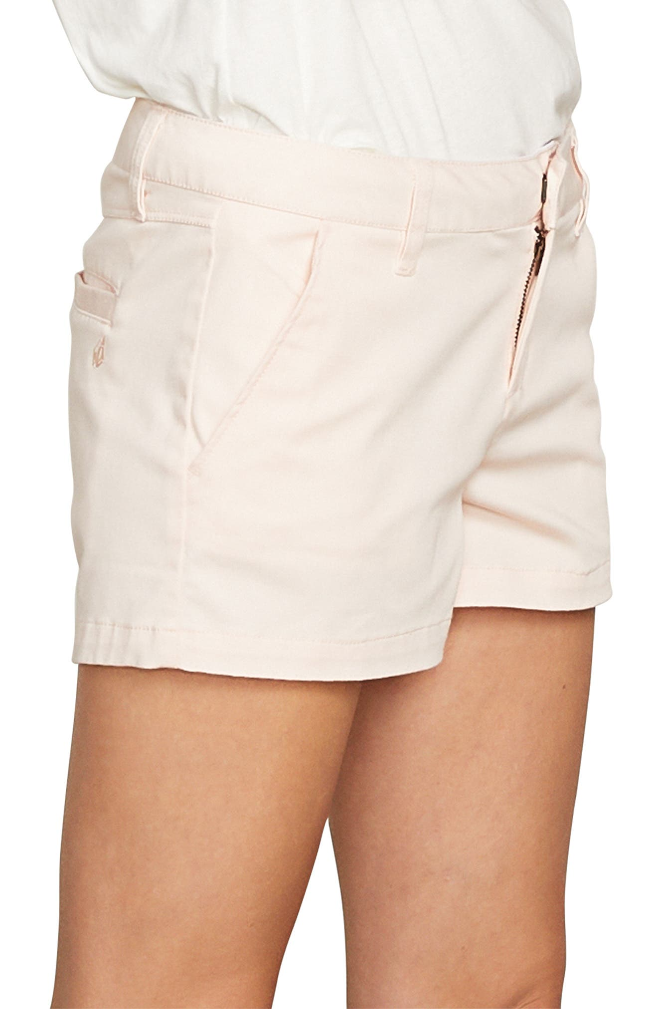 Frochickie Chino Shorts,                             Alternate thumbnail 3, color,                             CLOUD PINK