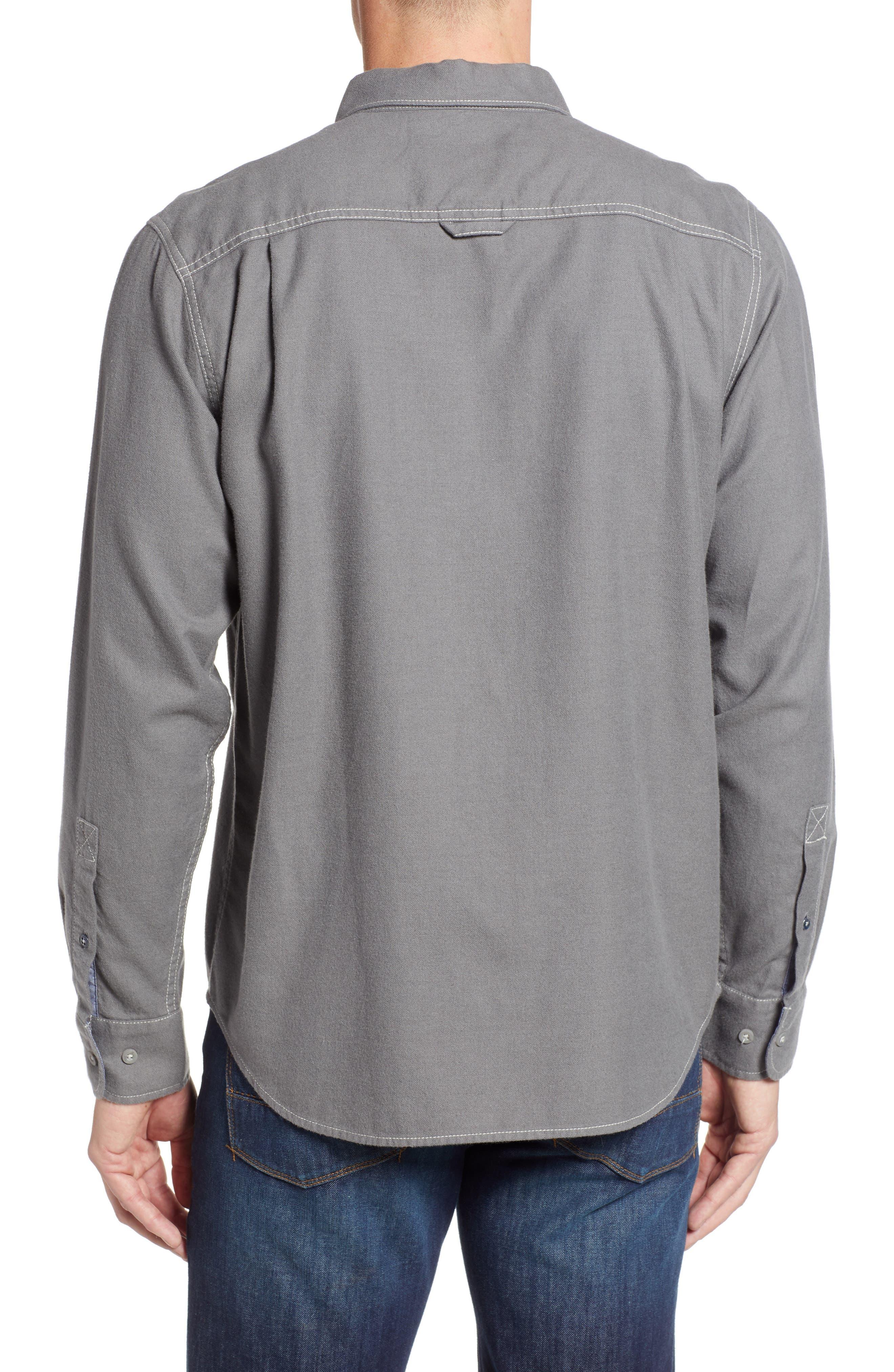 Bonfire Beach Flannel Shirt,                             Alternate thumbnail 2, color,                             CAVE