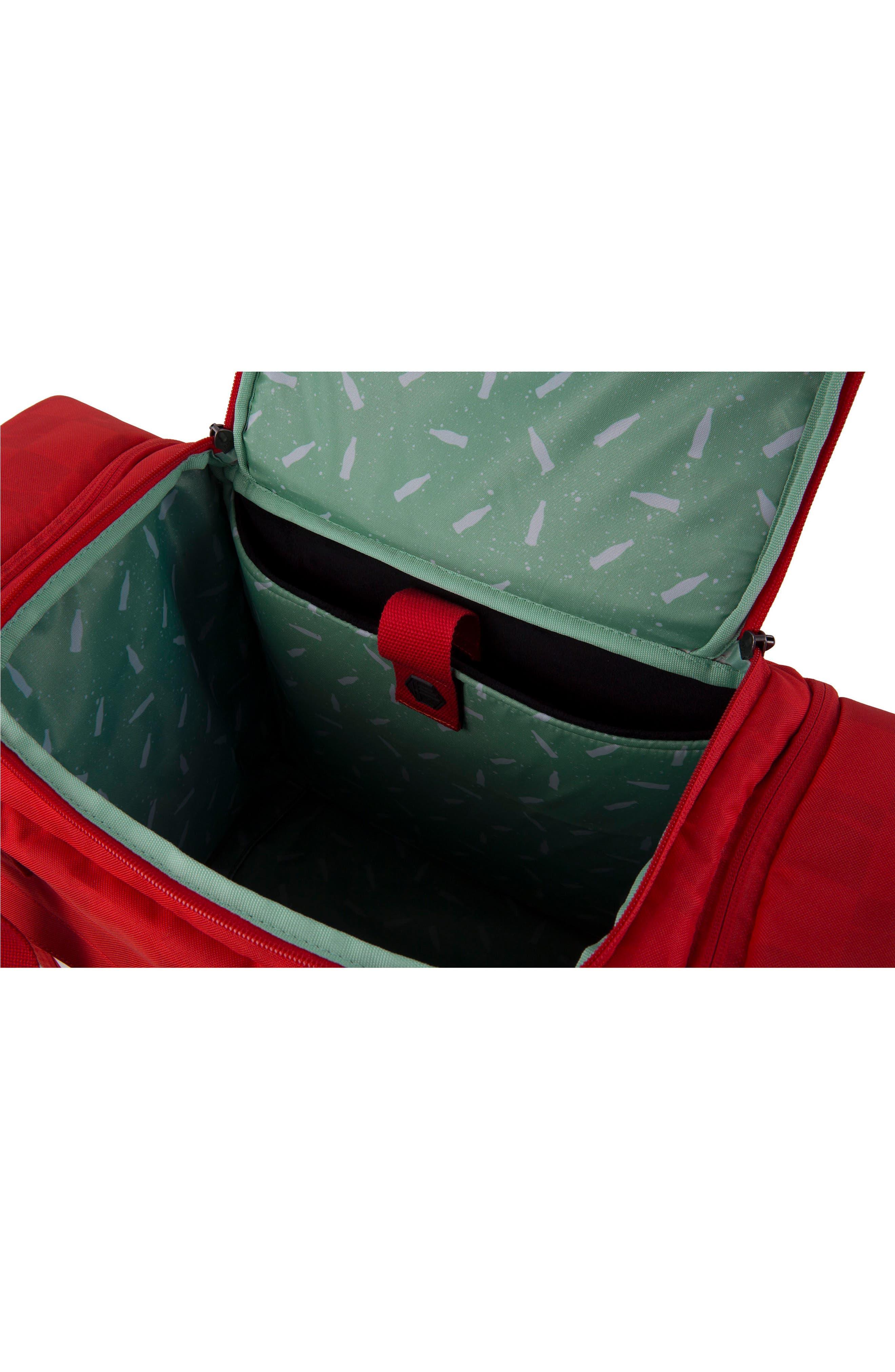 Coca Cola Sneaker Duffel Bag,                             Alternate thumbnail 3, color,                             600