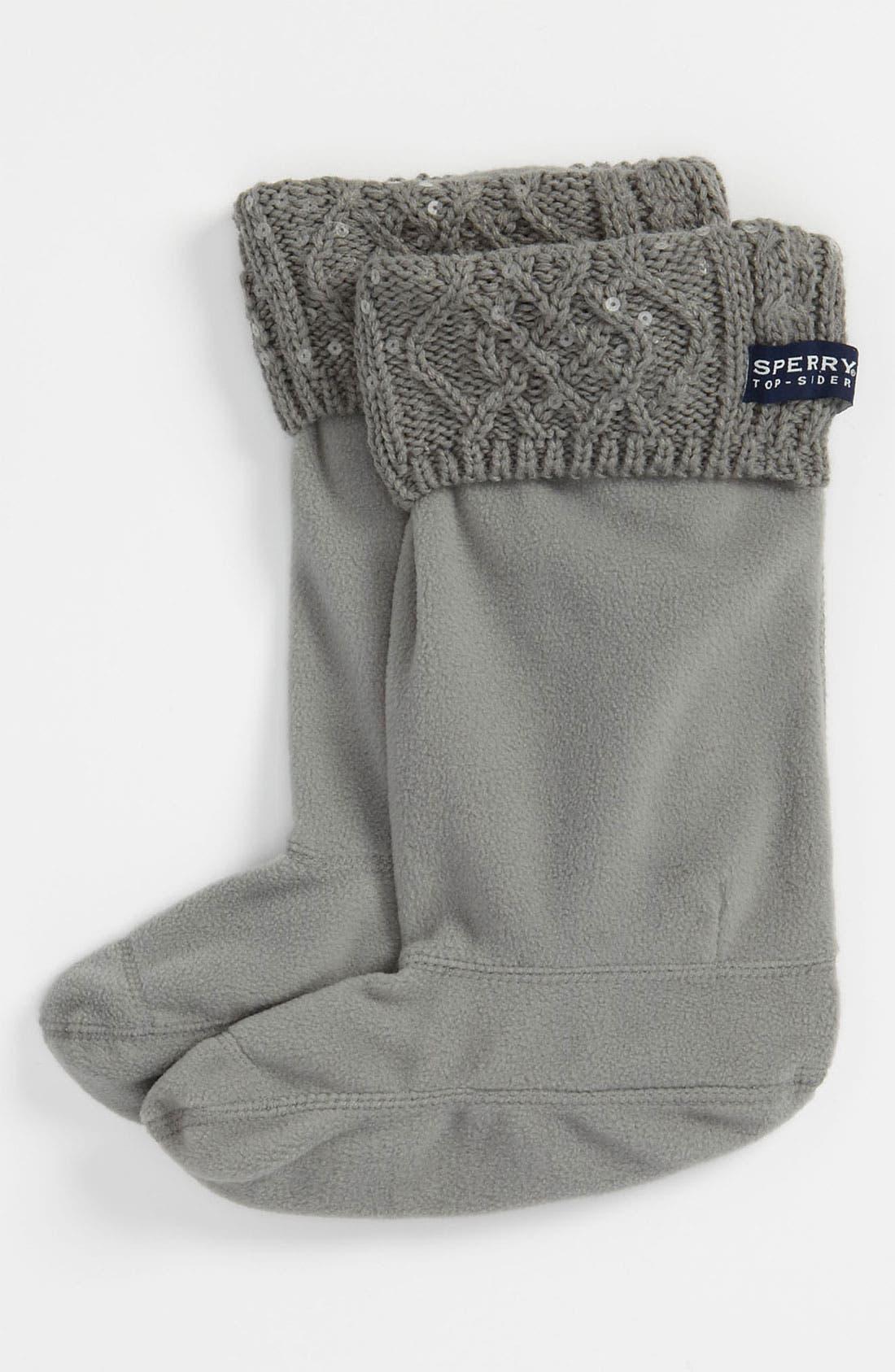 Top-Sider<sup>®</sup> Rain Boot Socks,                             Main thumbnail 1, color,                             025