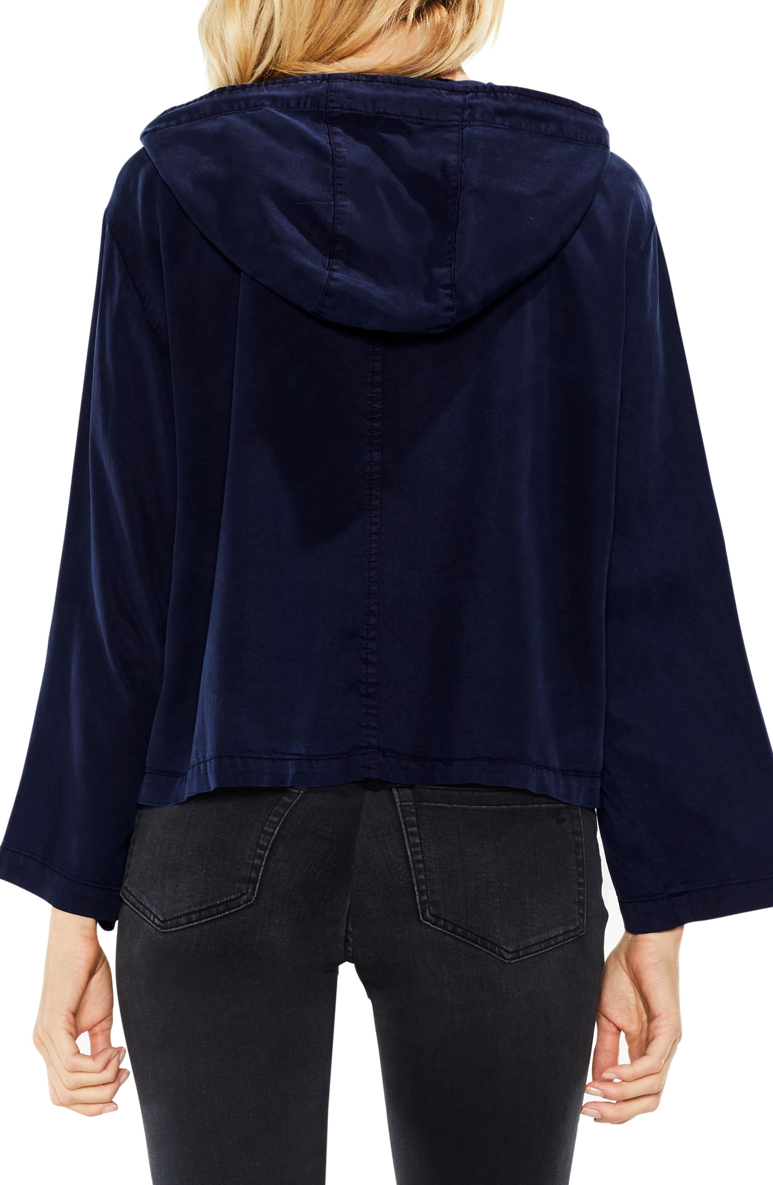 Bell Sleeve Hooded Jacket,                             Alternate thumbnail 3, color,