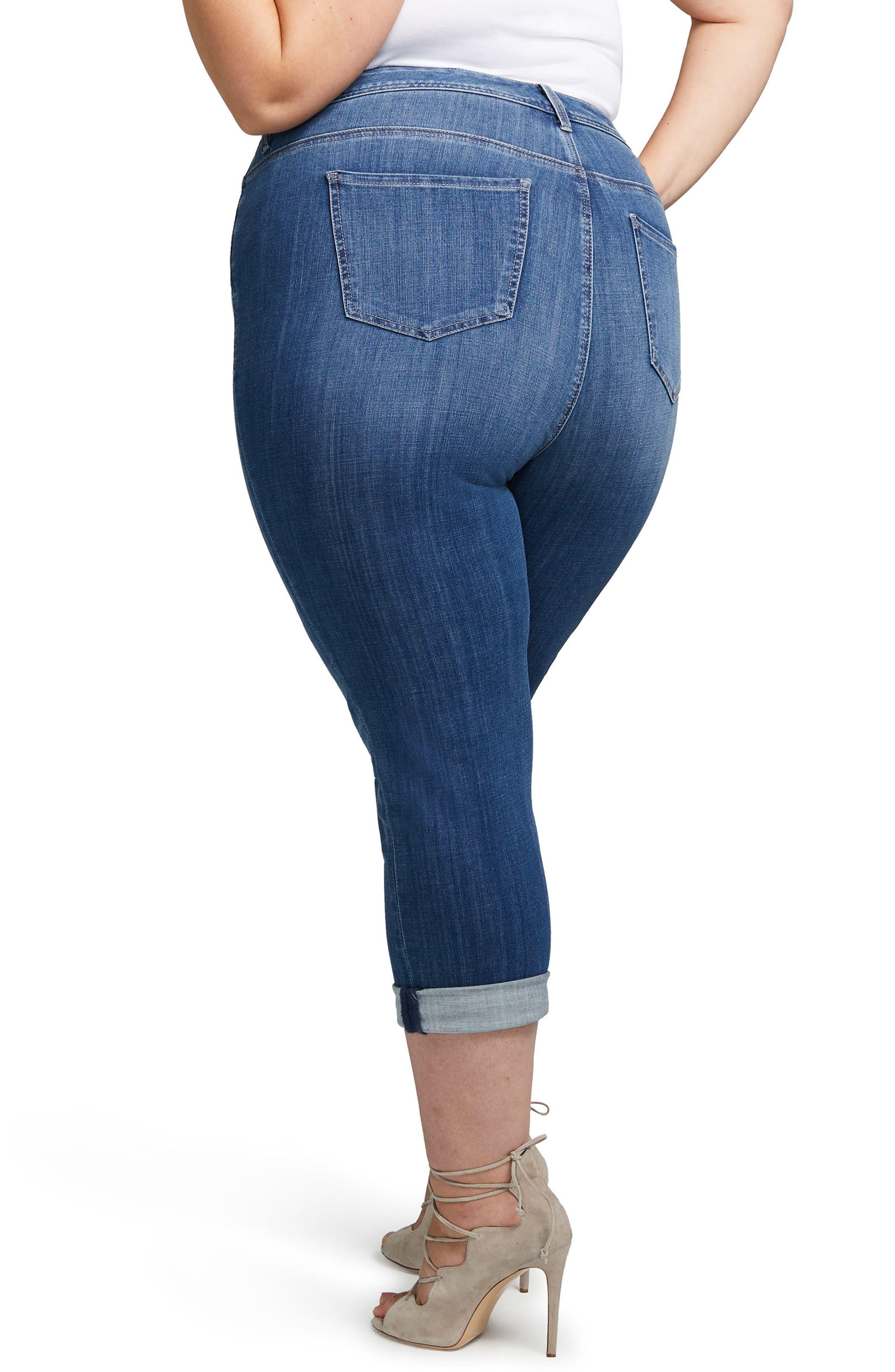 Slim Straight Crop Jeans,                             Alternate thumbnail 2, color,                             404