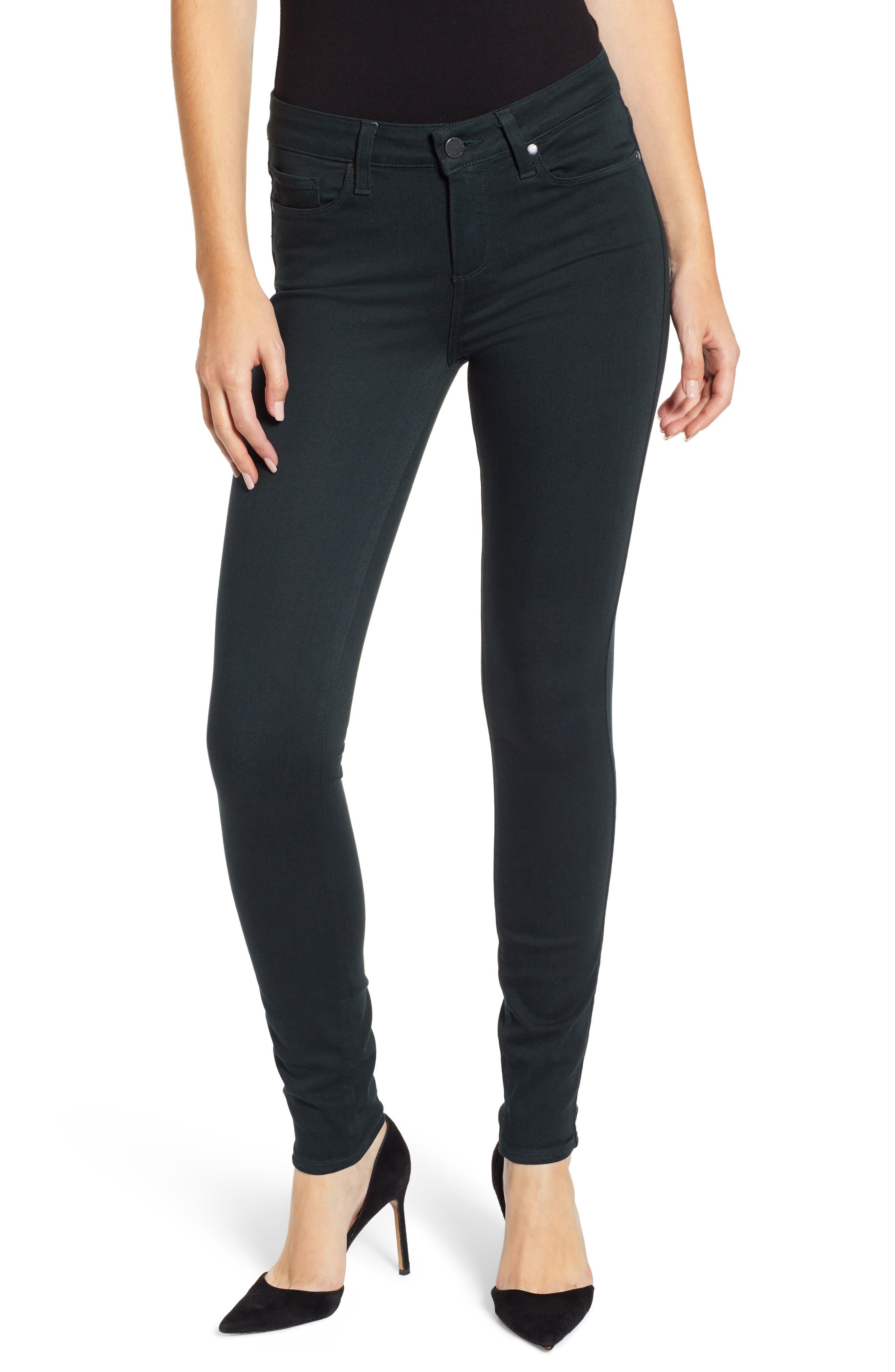 Transcend - Verdugo Ultra Skinny Jeans,                         Main,                         color, MIDNIGHT GREEN
