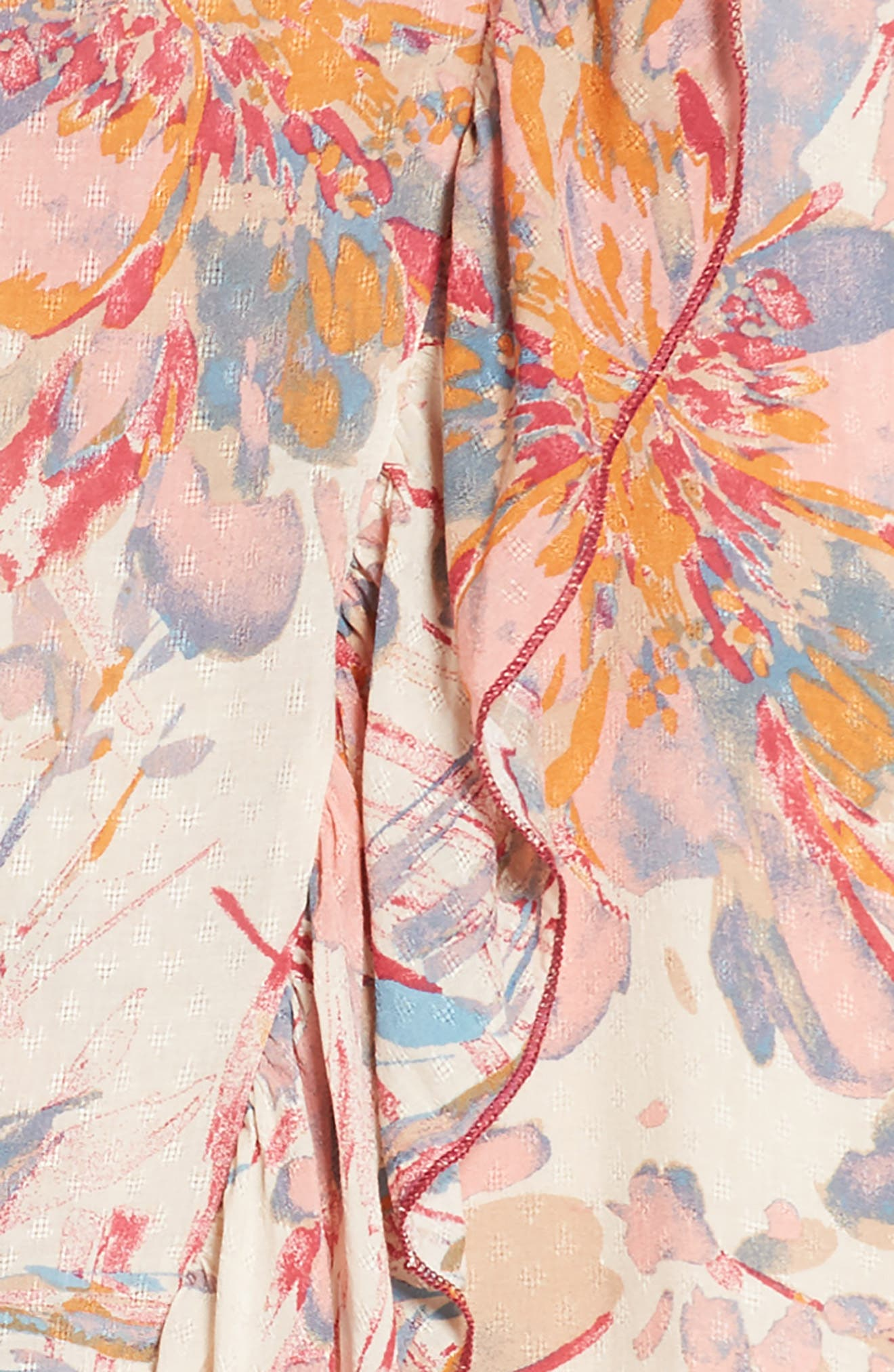 PPLA,                             Zinnia Floral Ruffle Sundress,                             Alternate thumbnail 3, color,                             950