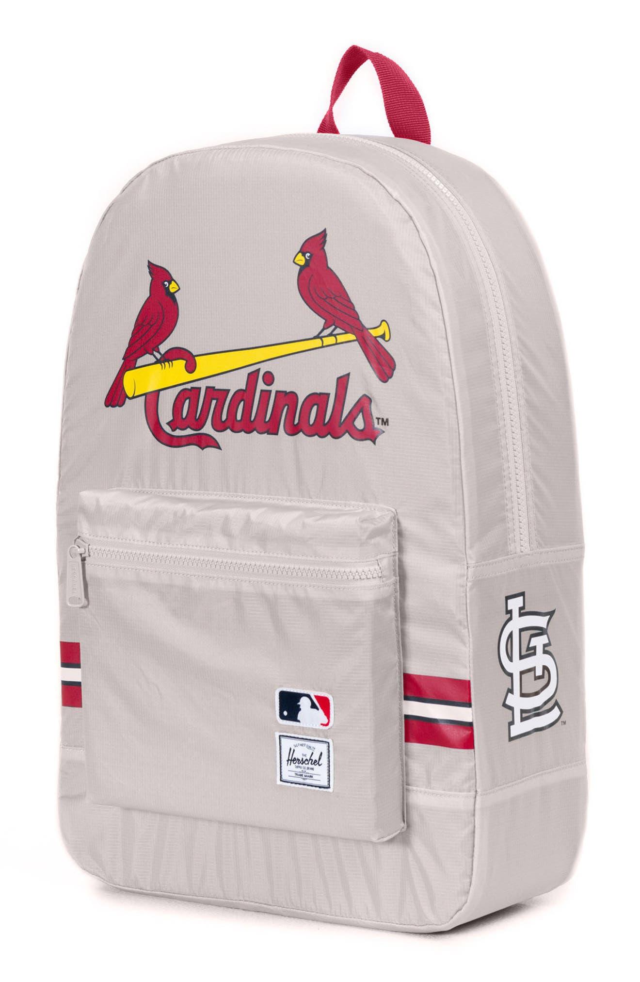 Packable - MLB National League Backpack,                             Alternate thumbnail 3, color,                             ST LOUIS CARDINALS