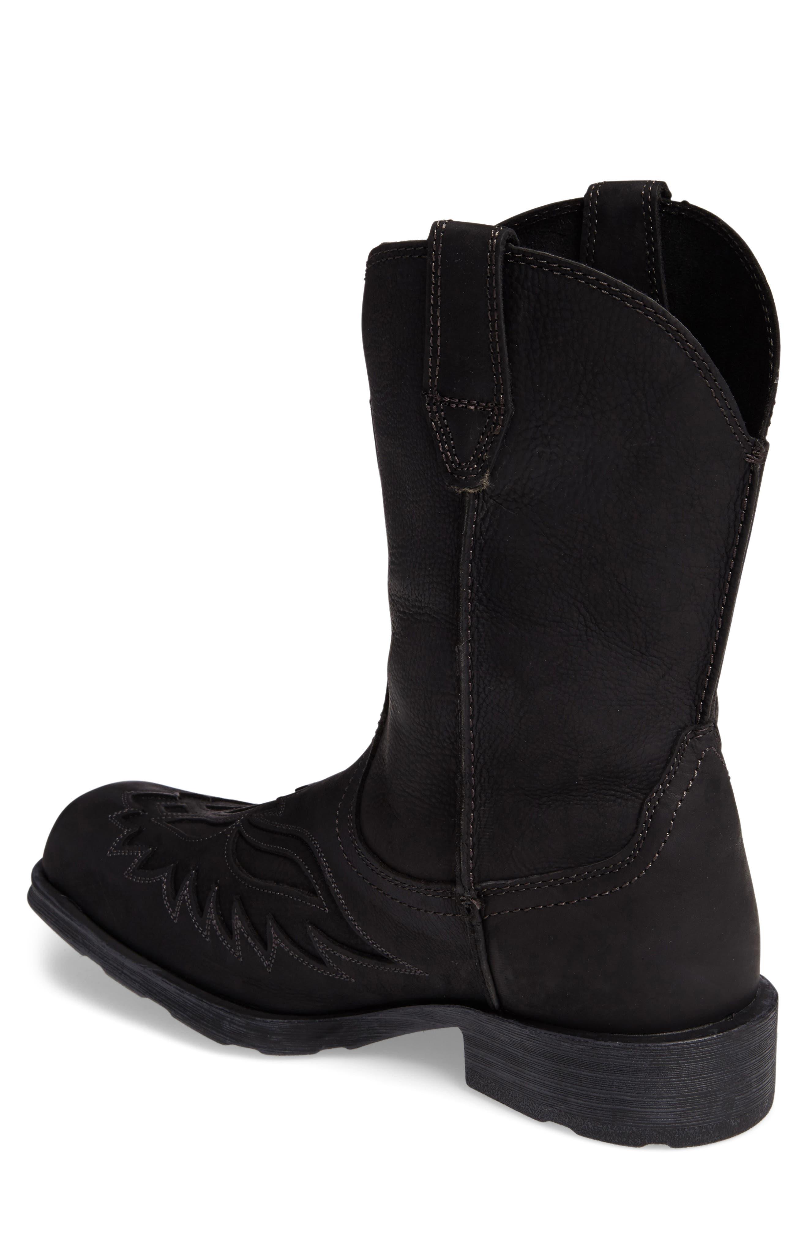 Rambler Renegade Cowboy Boot,                             Alternate thumbnail 2, color,                             BLACK
