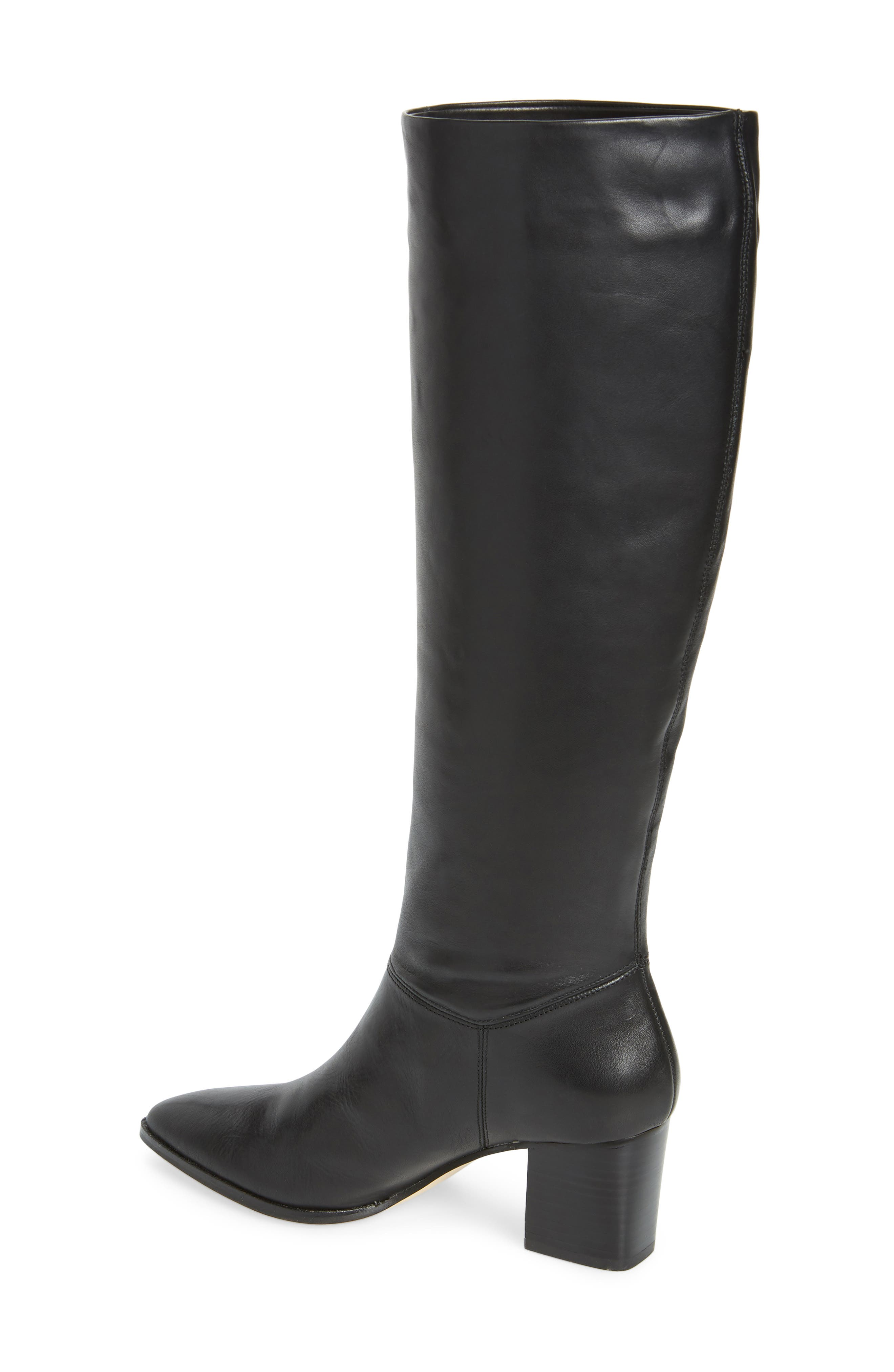 Danilynn Knee High Boot,                             Alternate thumbnail 2, color,                             BLACK LEATHER