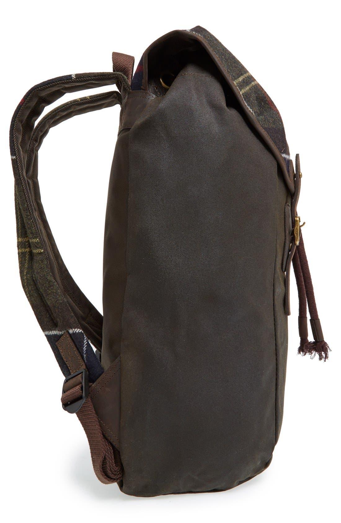 Waxed Canvas Backpack,                             Alternate thumbnail 4, color,                             300