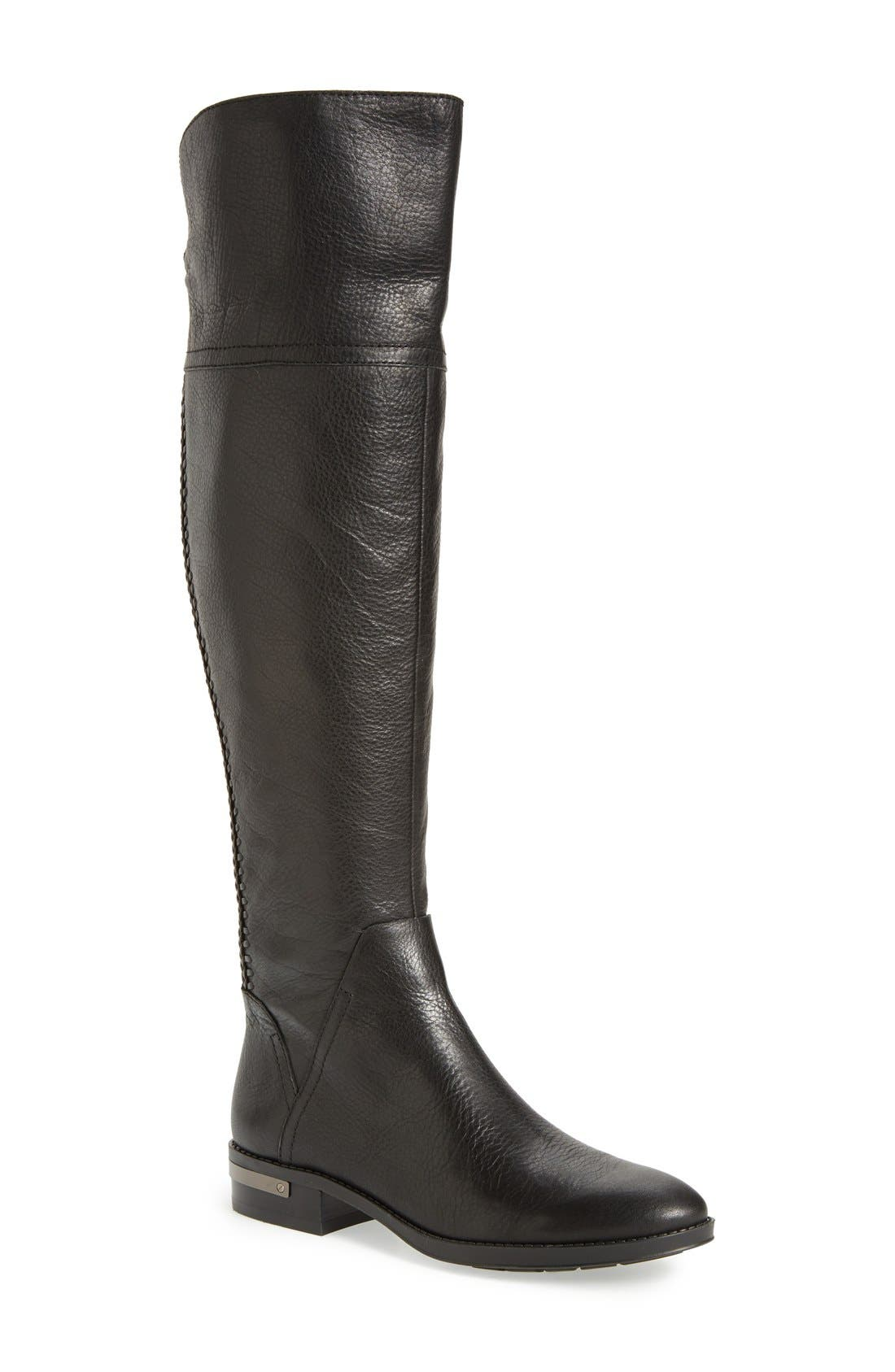 'Pedra' Over the Knee Boot,                             Main thumbnail 1, color,                             001
