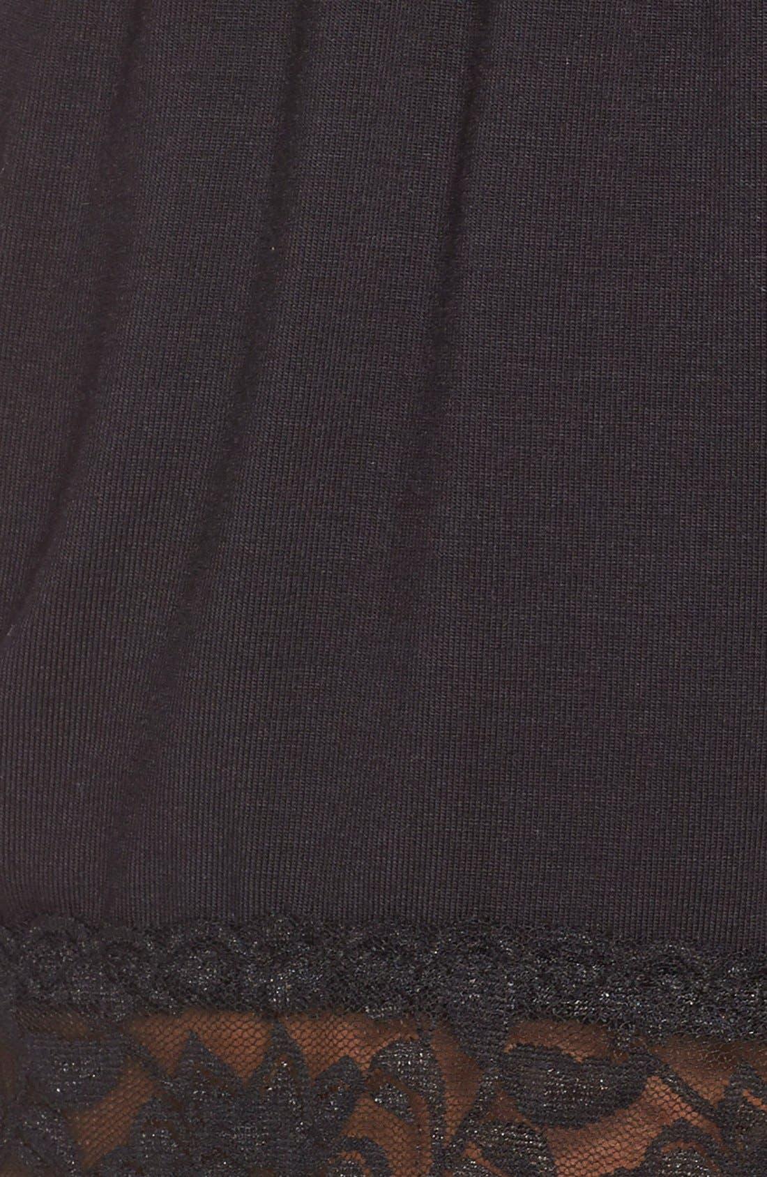 Flora Nikrooz Snuggle Lounge Shorts,                             Alternate thumbnail 2, color,                             BLACK