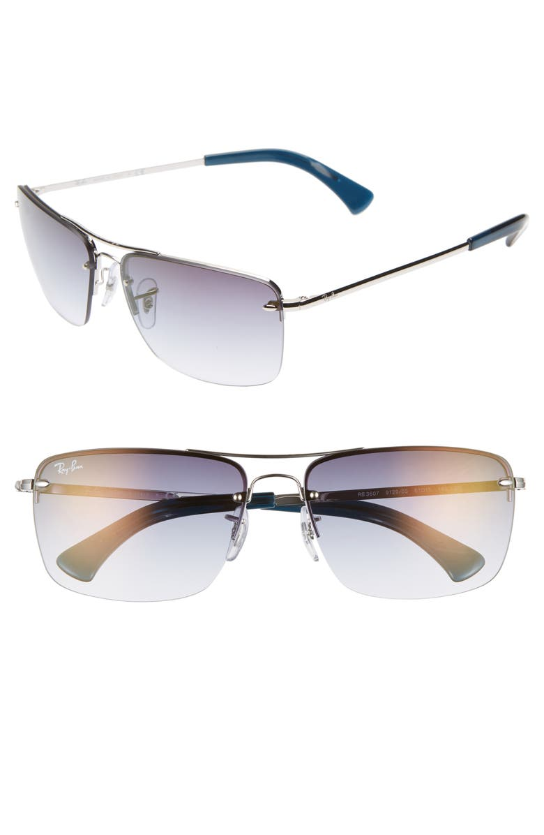1c2213170b2 Style Name  Ray-Ban 61Mm Rimless Navigator Sunglasses. Style Number   5738978. Available in stores.