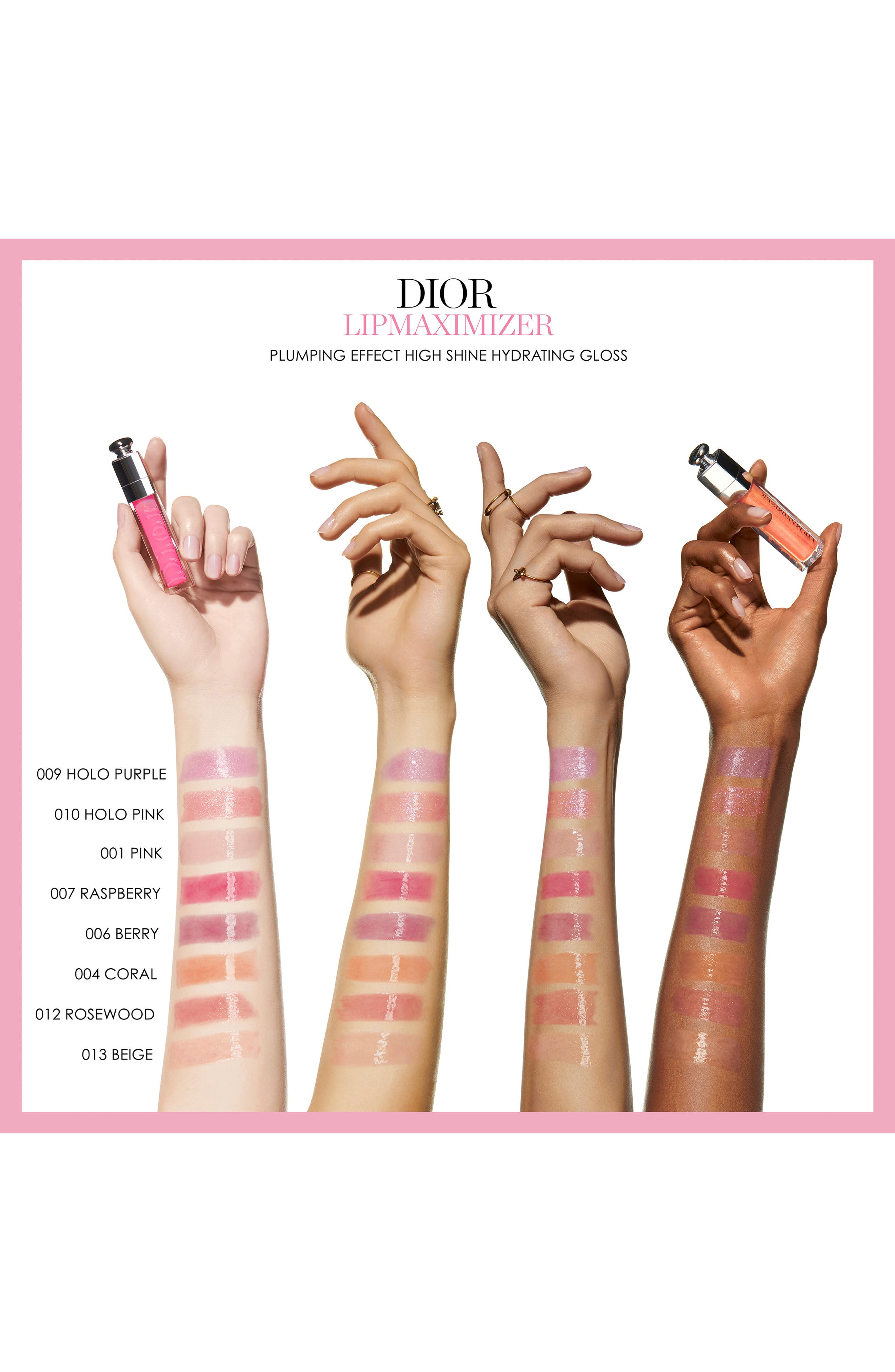 DIOR,                             Addict Lip Maximizer,                             Alternate thumbnail 7, color,                             007 RASPBERRY/ GLOW