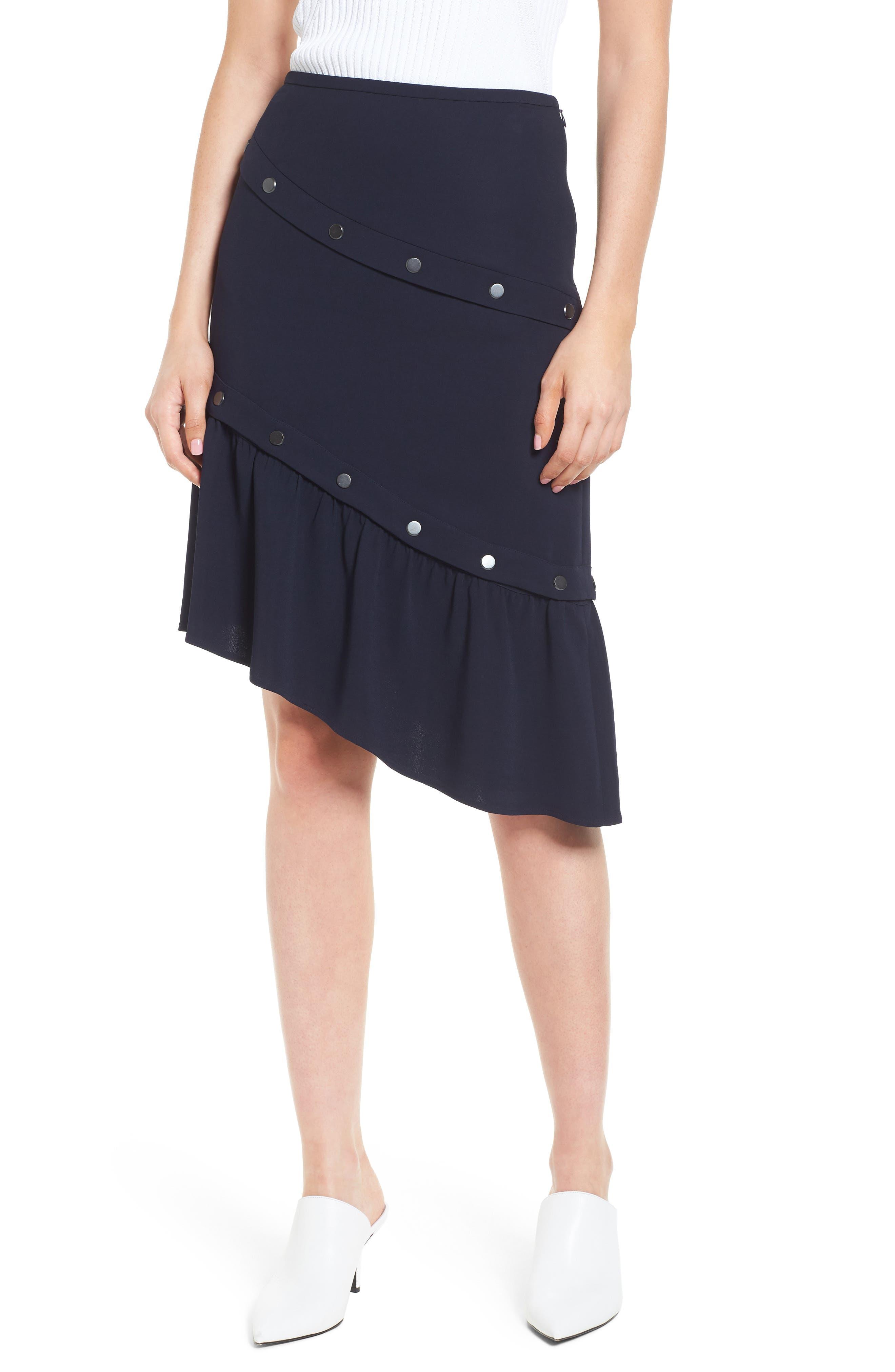 Snap Detail Skirt,                             Main thumbnail 1, color,                             410