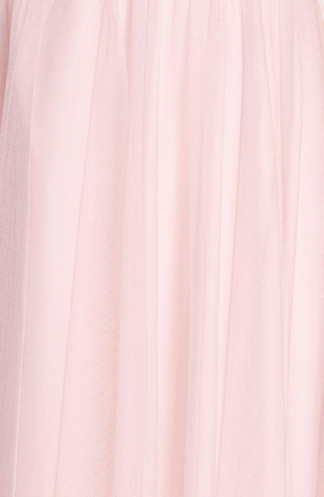 Tulle Halter Neck Gown,                             Alternate thumbnail 16, color,