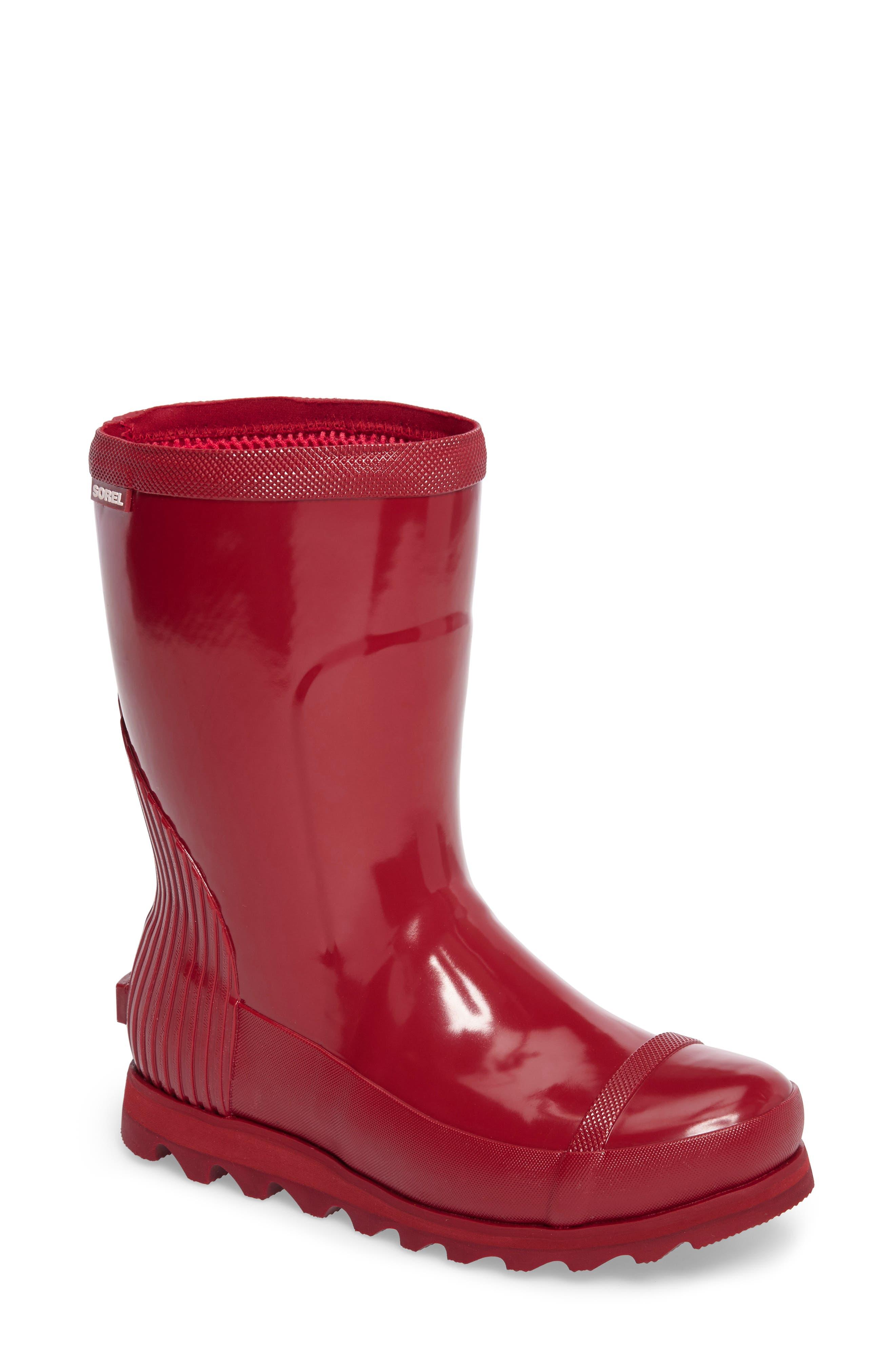 Joan Glossy Short Rain Boot,                             Main thumbnail 3, color,