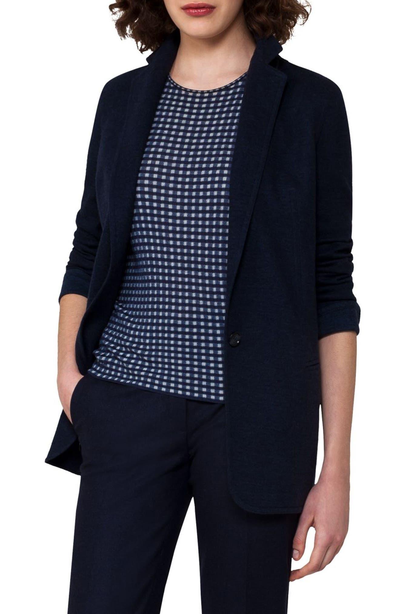 Cashmere Blend Jersey Jacket,                             Alternate thumbnail 3, color,                             400