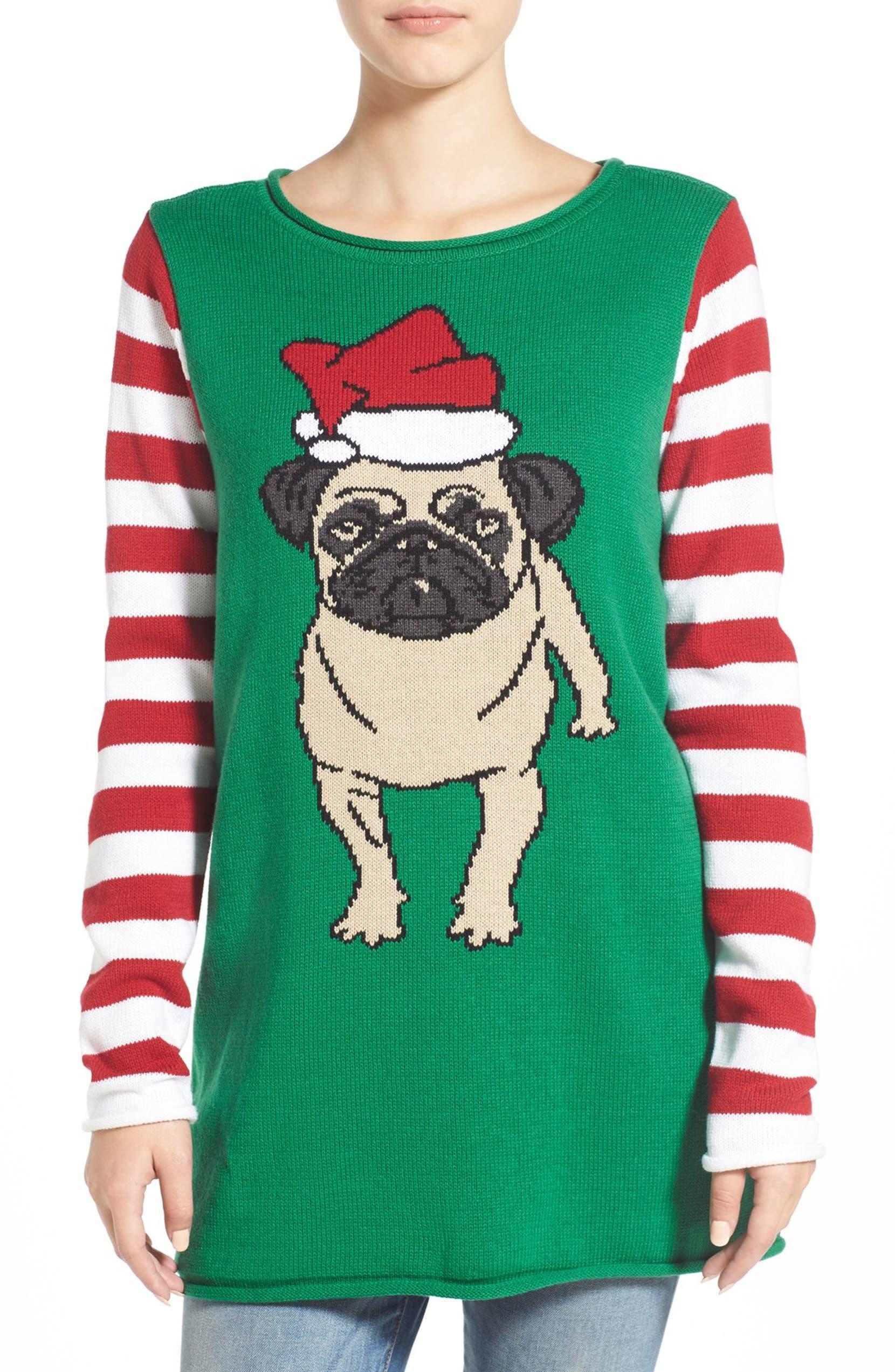 Ugly Christmas Sweater Pug Christmas Sweater   Nordstrom