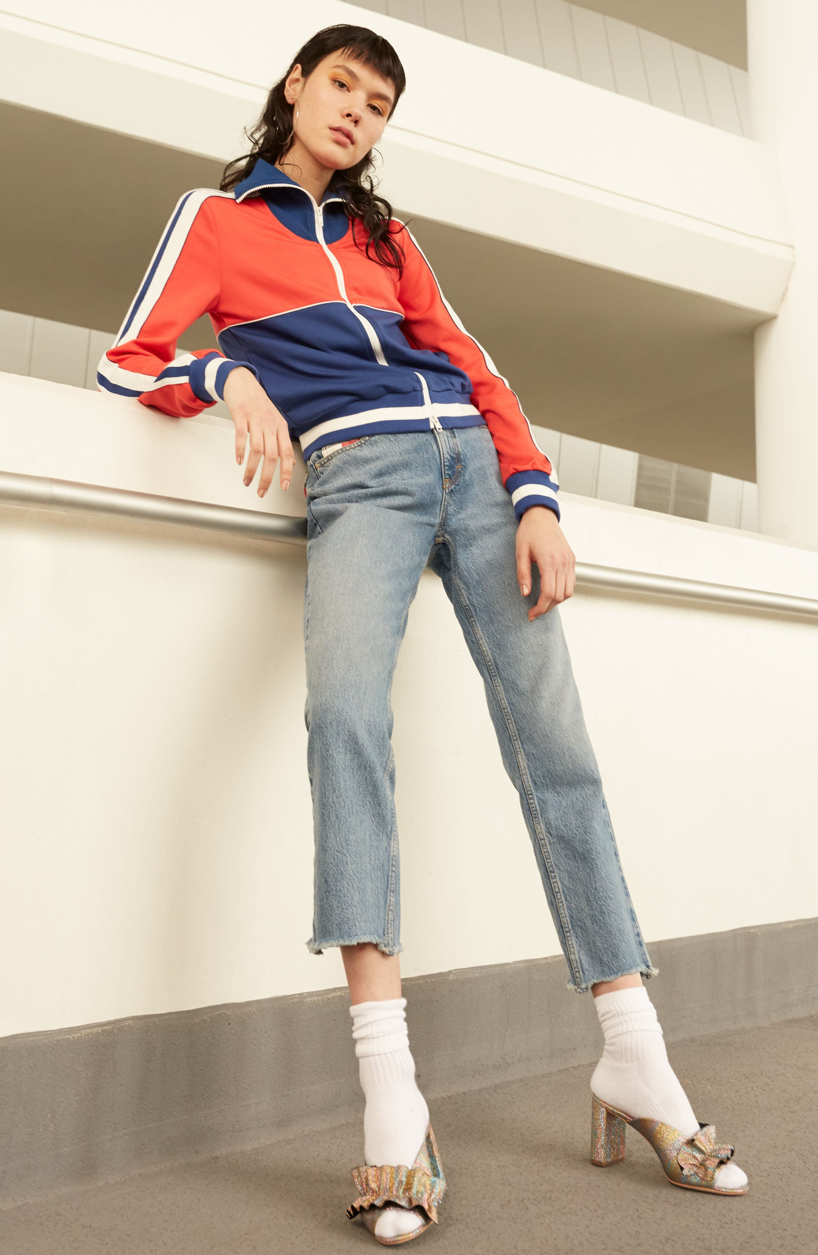 TOMMY JEANS,                             TJW 90s Mom Jeans,                             Alternate thumbnail 8, color,                             401