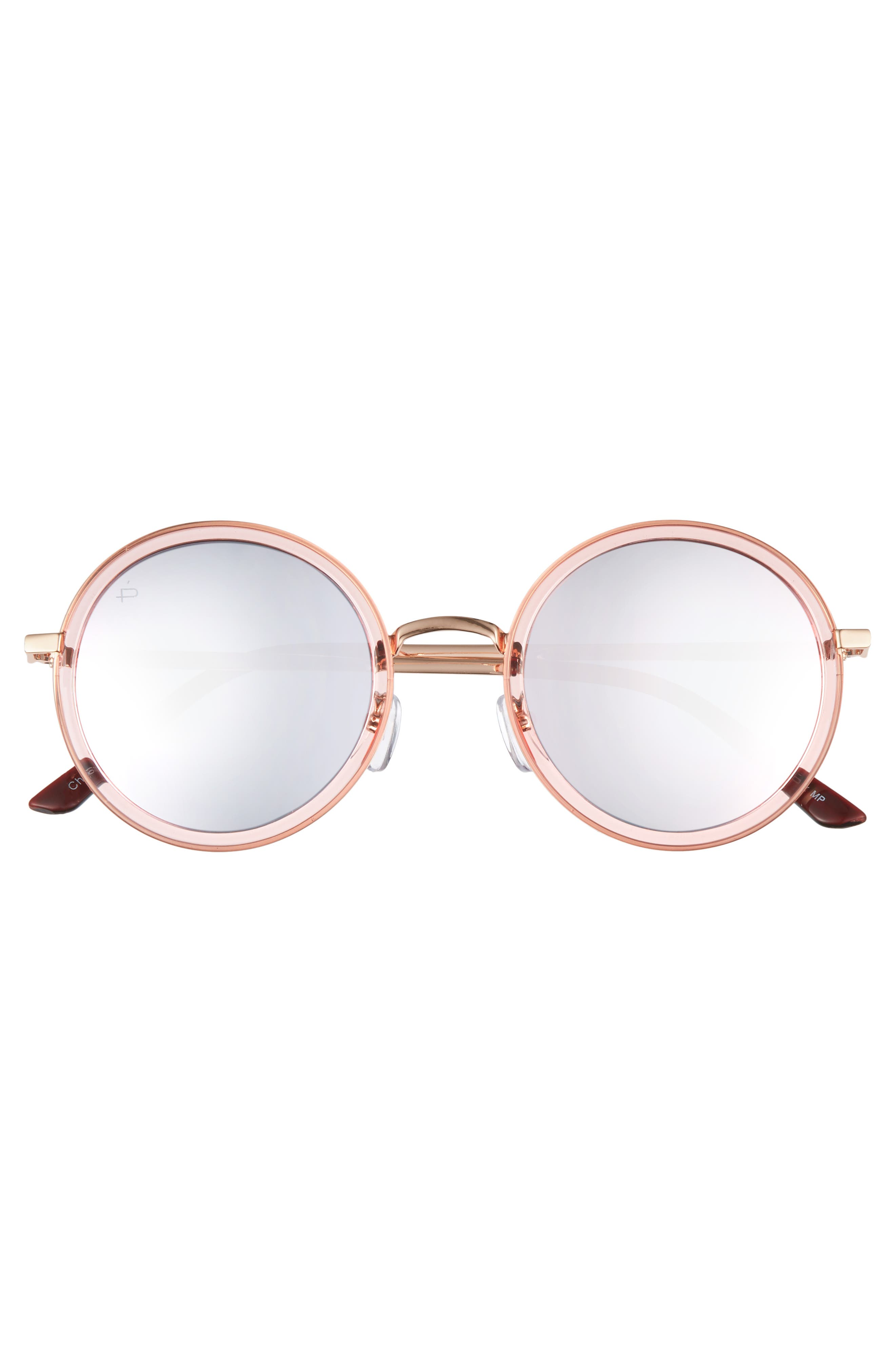 Privé Revaux x Madelaine Petsch The Street 53mm Round Sunglasses,                             Alternate thumbnail 8, color,