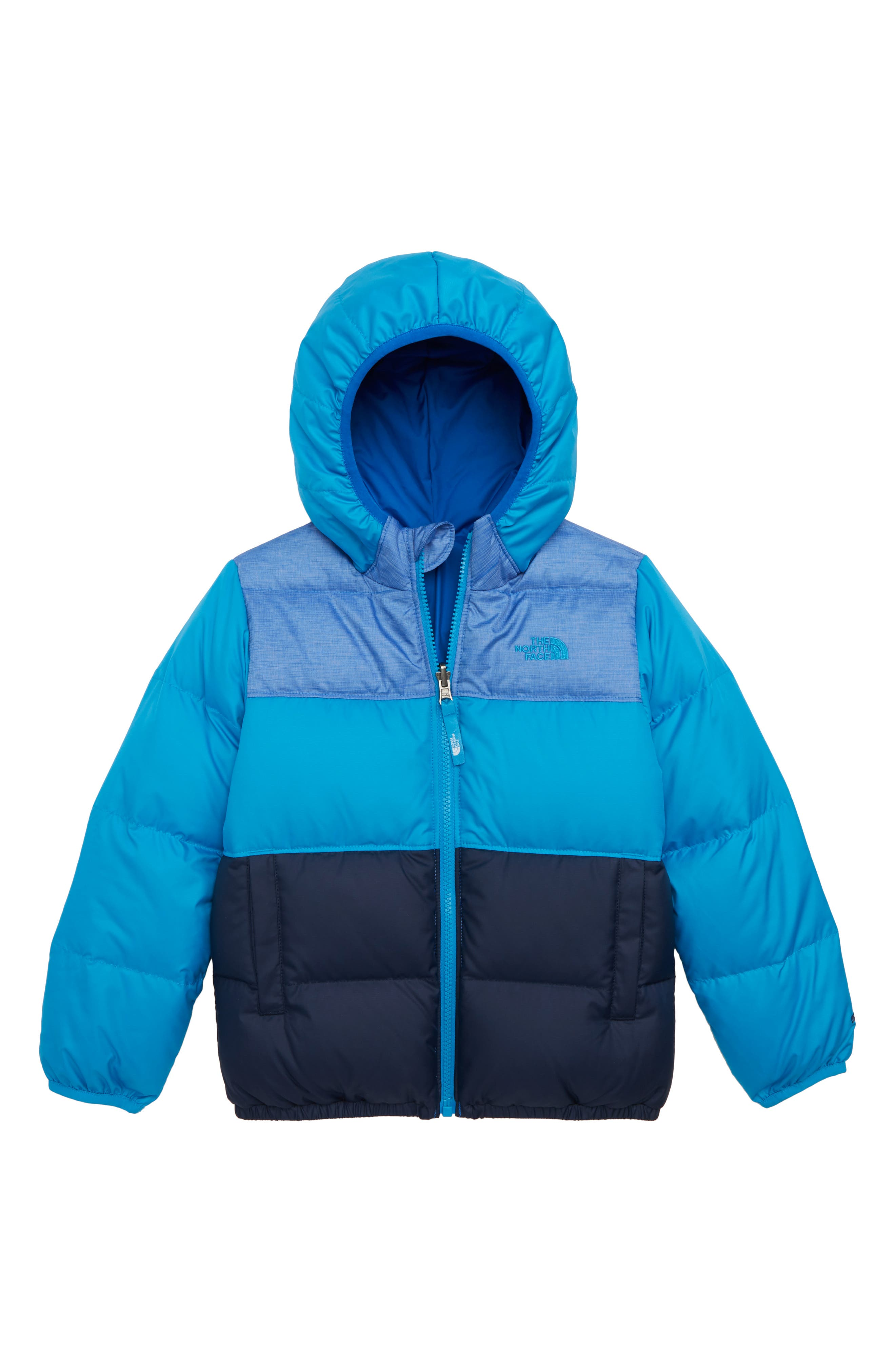 Toddler Boys The North Face Moondoggy Water Repellent Reversible Down Jacket Size 3T  Blue