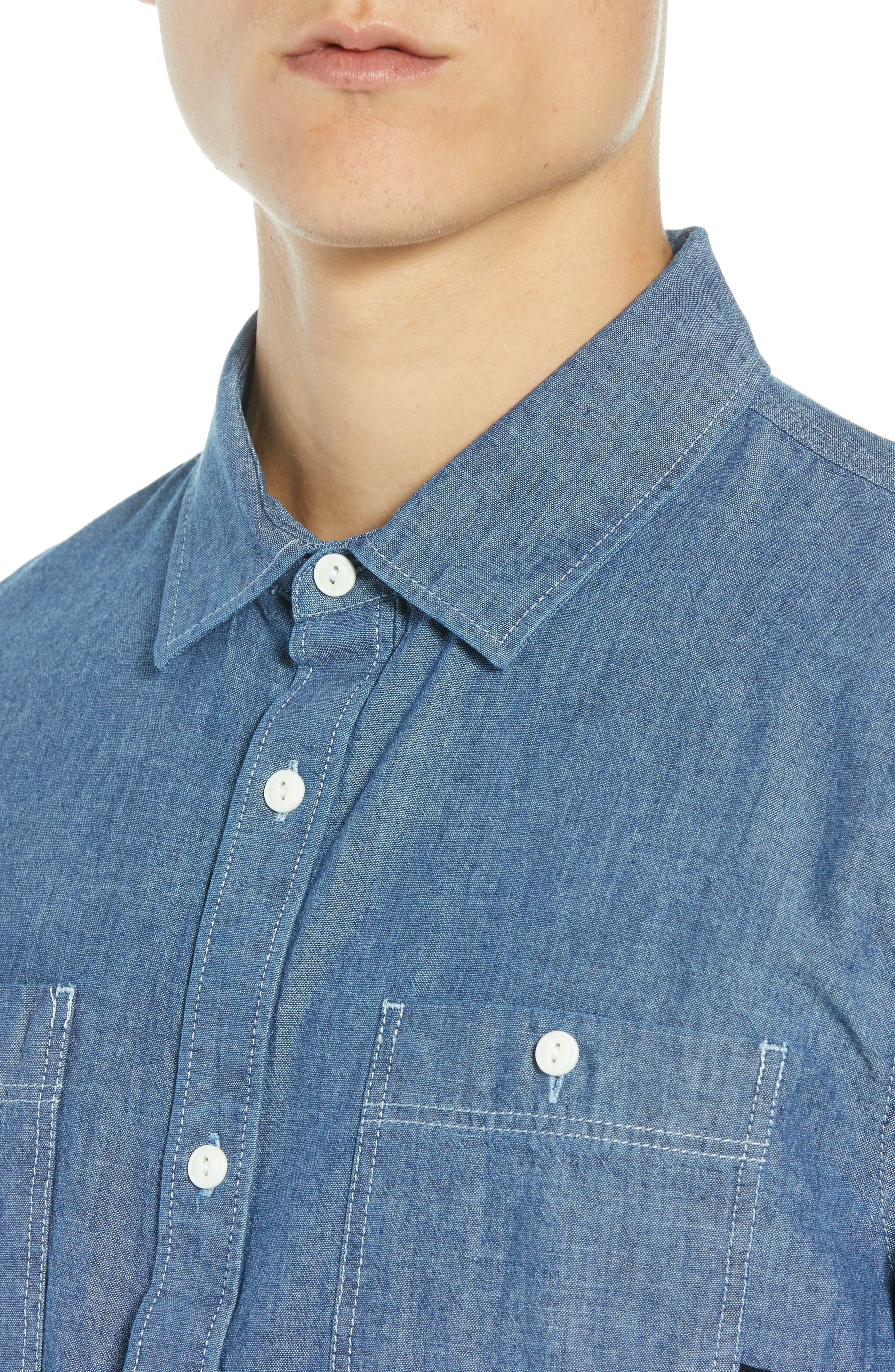Carlow Chambray Shirt,                             Alternate thumbnail 2, color,                             INDIGO CHAMBRAY