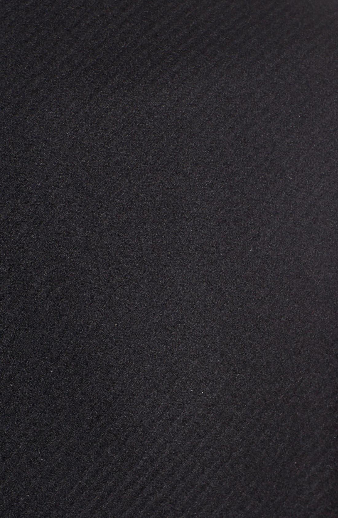 'Maddi' Knit Collar Cutaway Wool Blend Coat,                             Alternate thumbnail 5, color,                             001