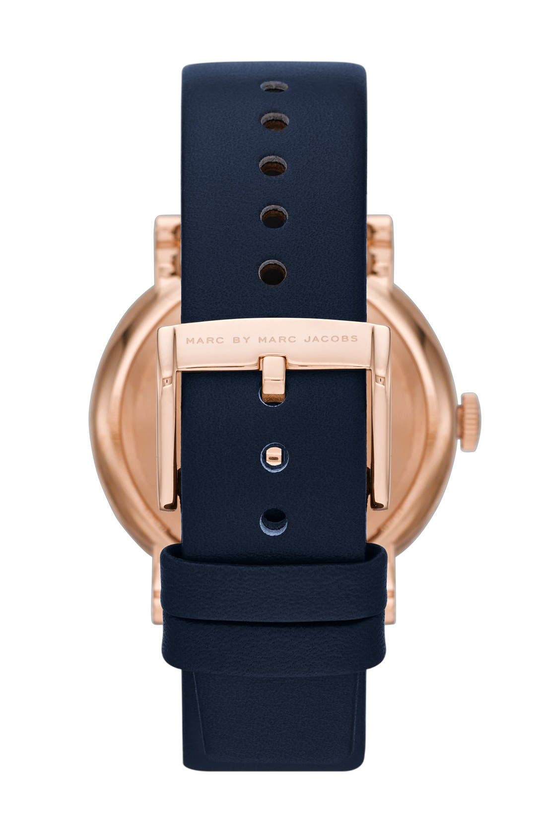 'Baker' Leather Strap Watch, 37mm,                             Alternate thumbnail 28, color,