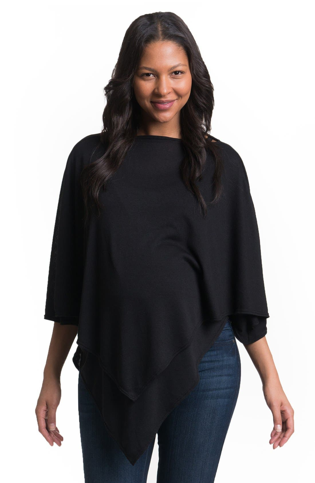 Cozy Up Maternity/Nursing Poncho,                         Main,                         color, 001