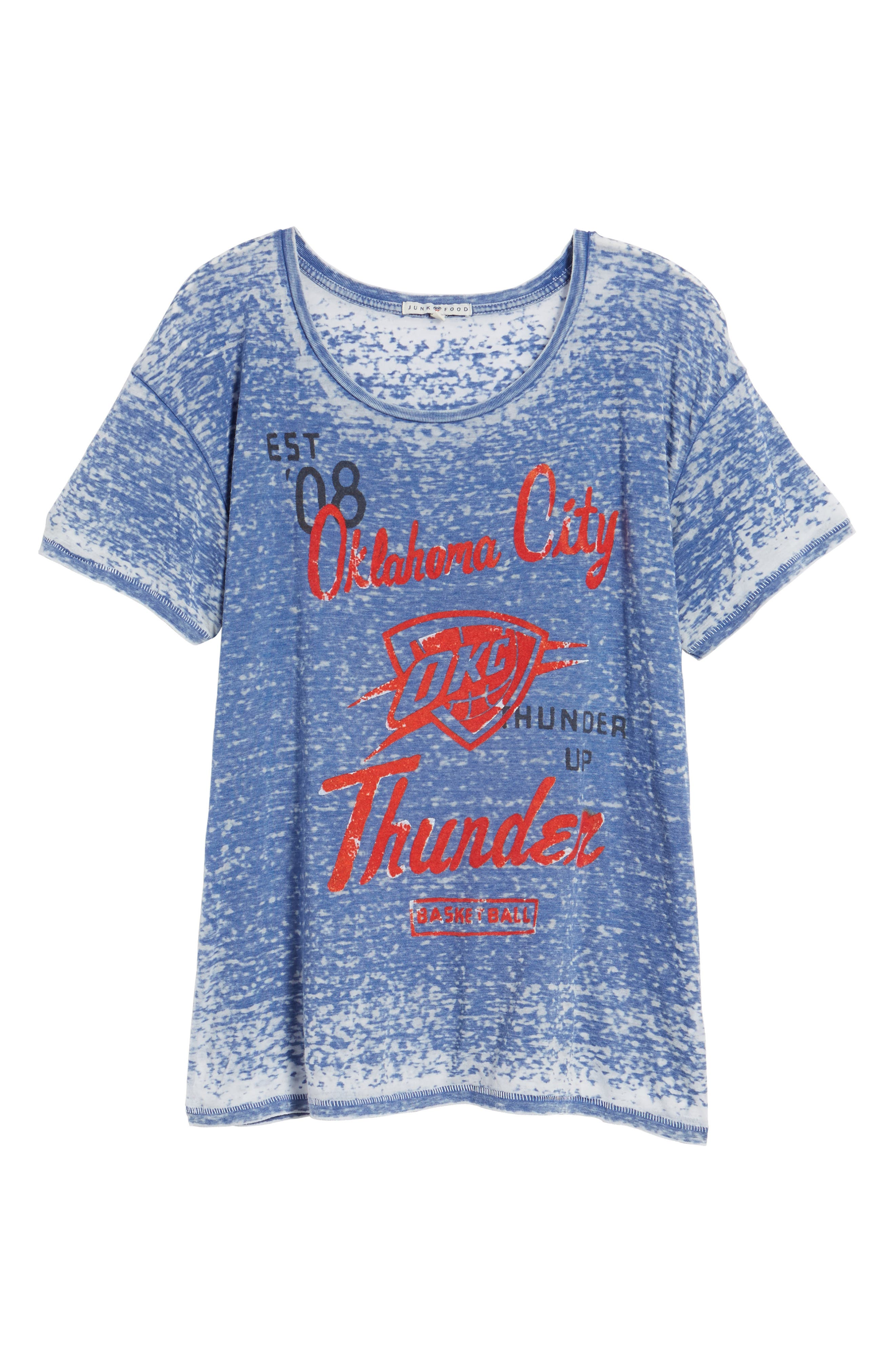 NBA Oklahoma City Thunder Burnout Tee,                             Alternate thumbnail 6, color,                             497