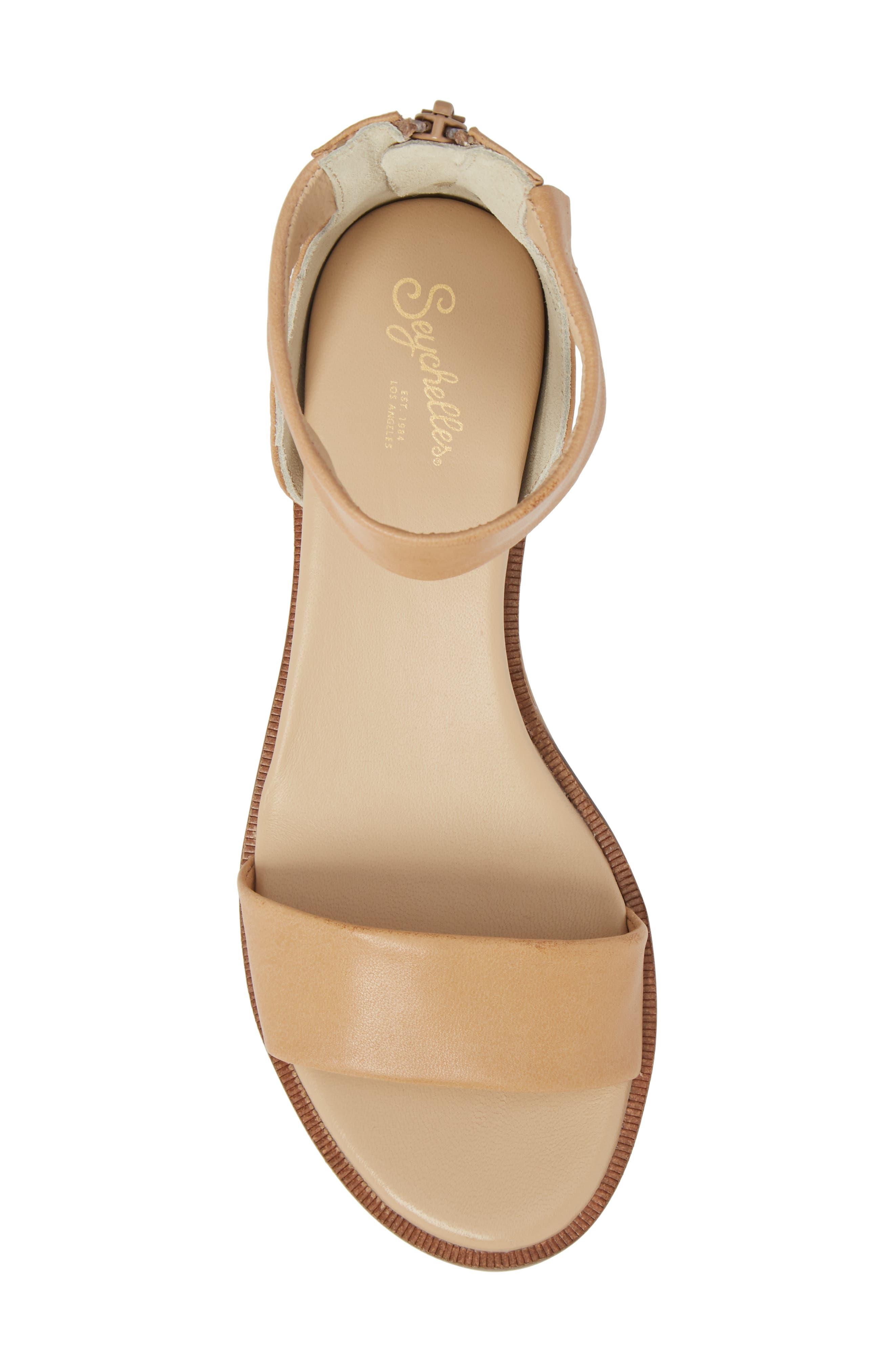 Ankle Strap Sandal,                             Alternate thumbnail 5, color,                             VACCHETTA LEATHER