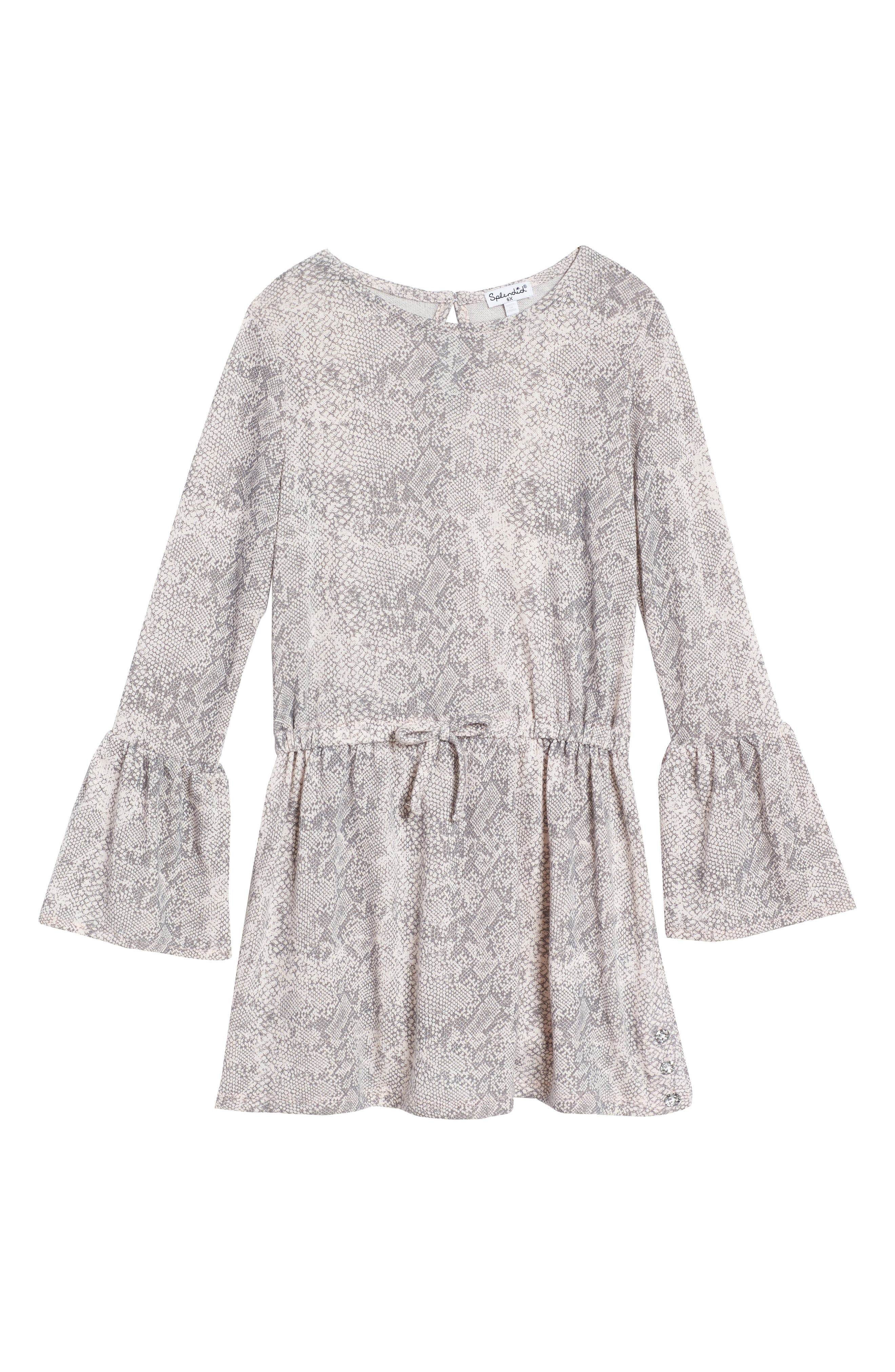 Python Print Loose Knit Dress,                         Main,                         color, 655