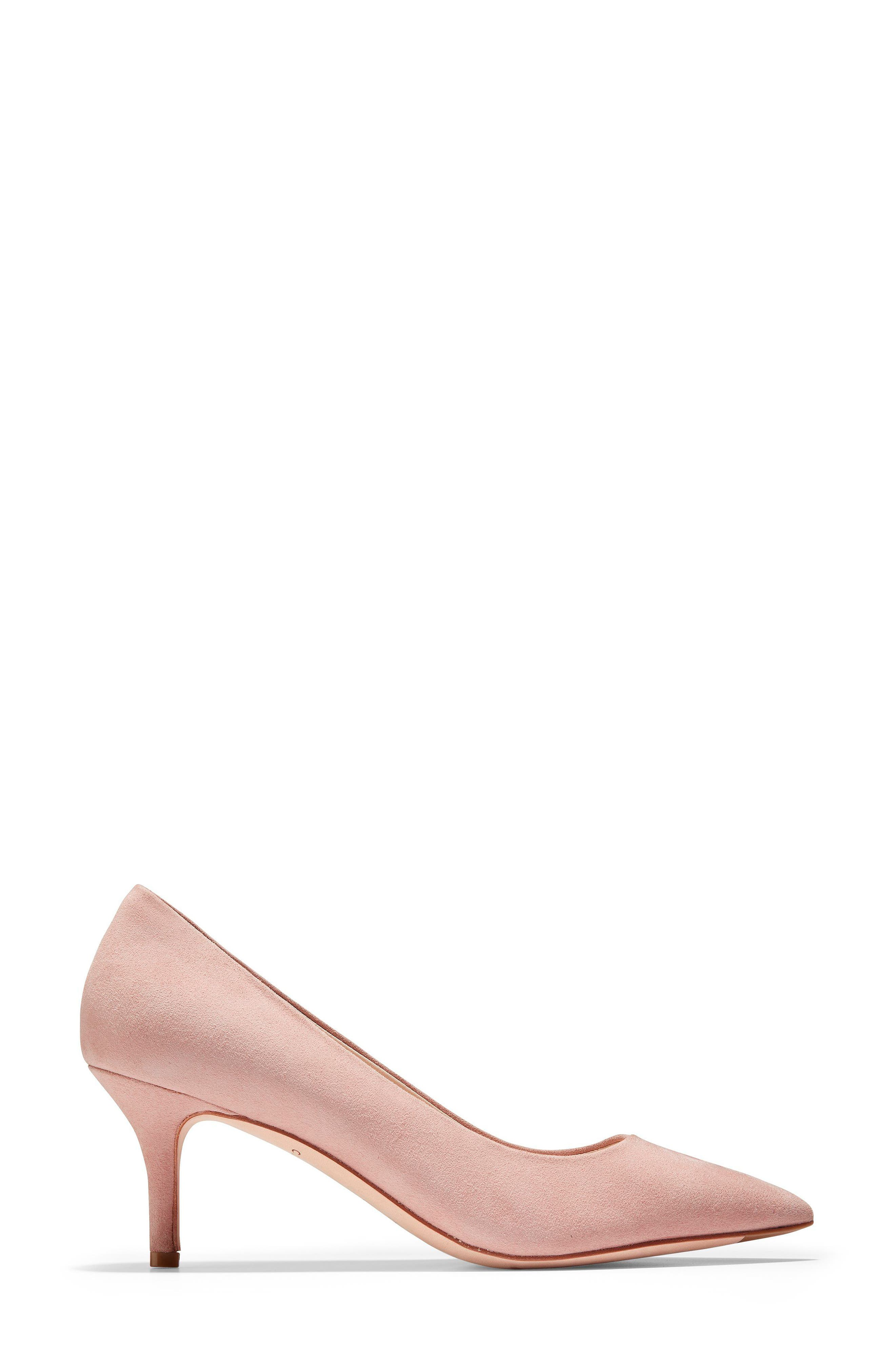 Vesta Pointy Toe Pump,                             Alternate thumbnail 3, color,                             SILVER PINK SUEDE