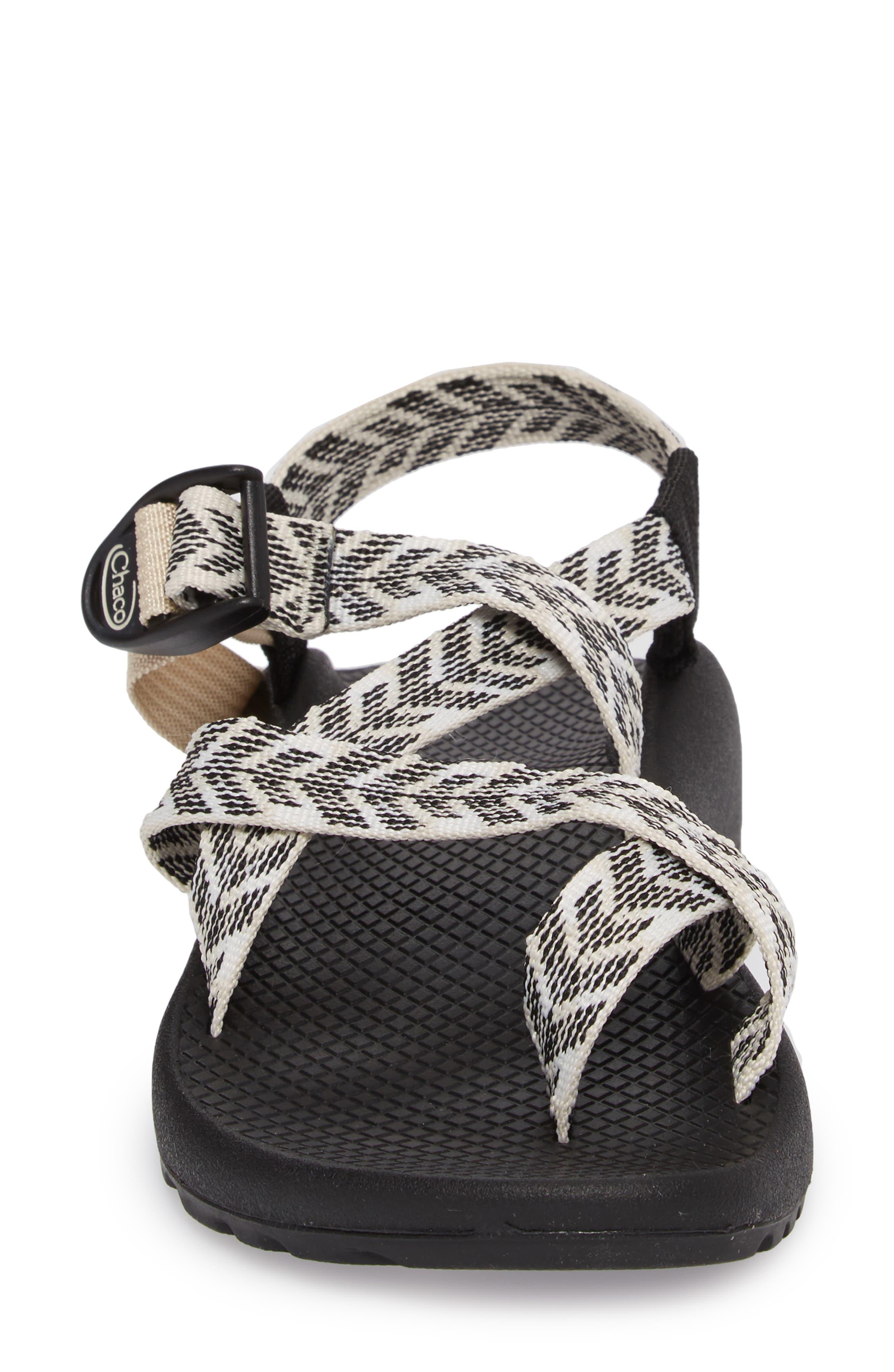 Z/2 Classic Sport Sandal,                             Alternate thumbnail 4, color,                             TRINE BLACK / WHITE