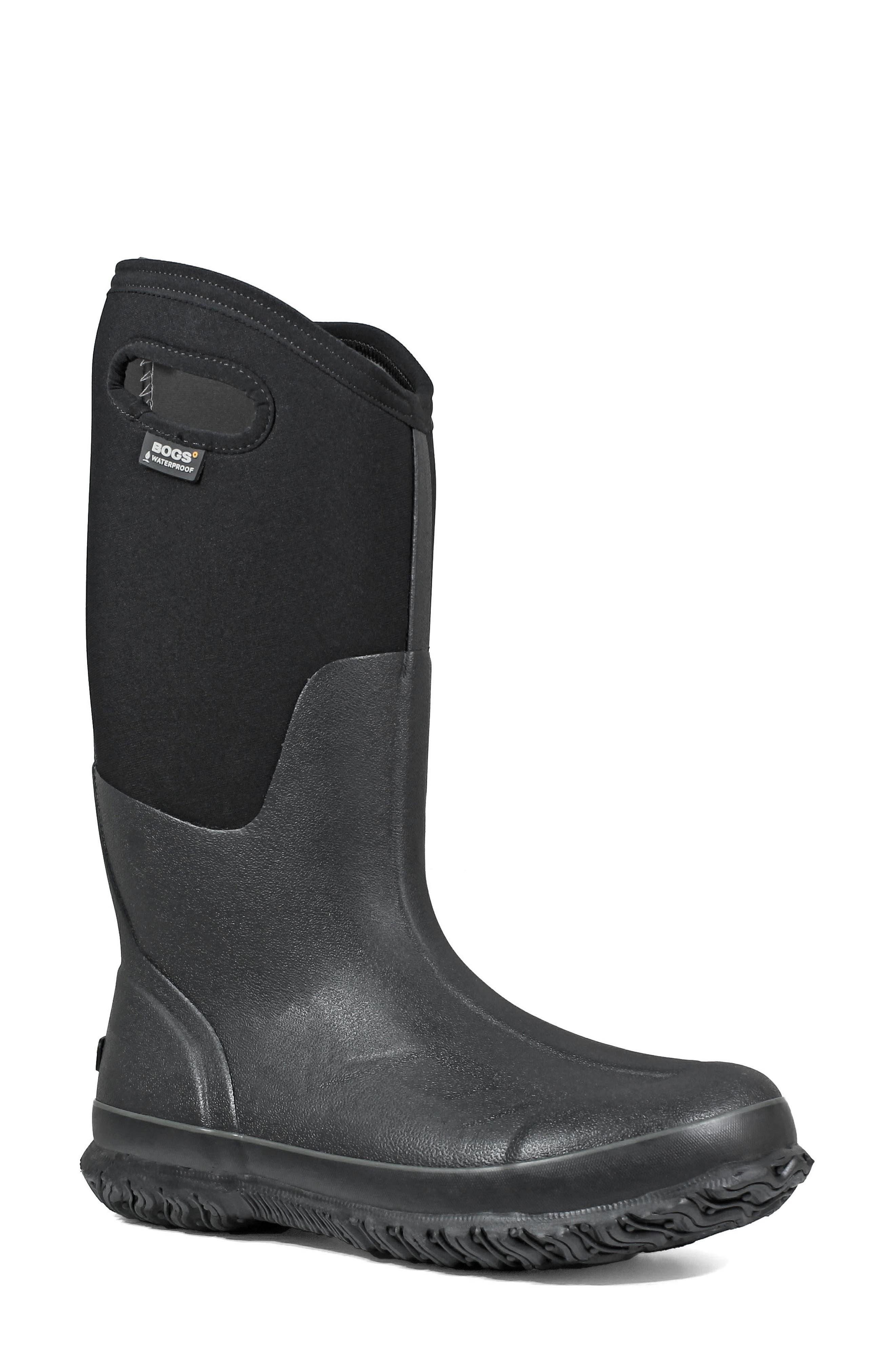 Bogs Classic Tall Waterproof Snow Boot, Wide Calf- Black