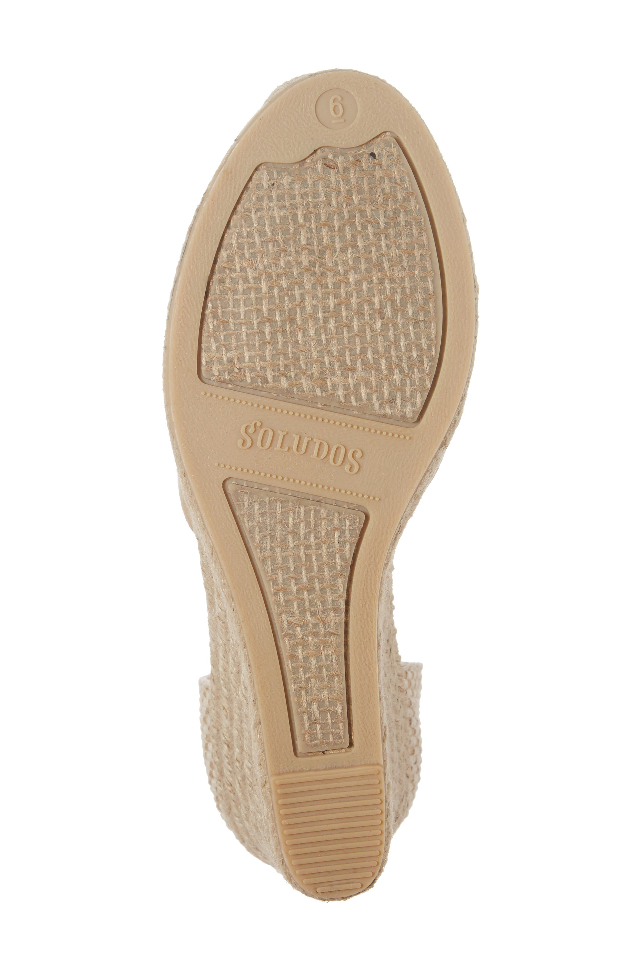 Lace-Up Espadrille Wedge,                             Alternate thumbnail 6, color,                             250